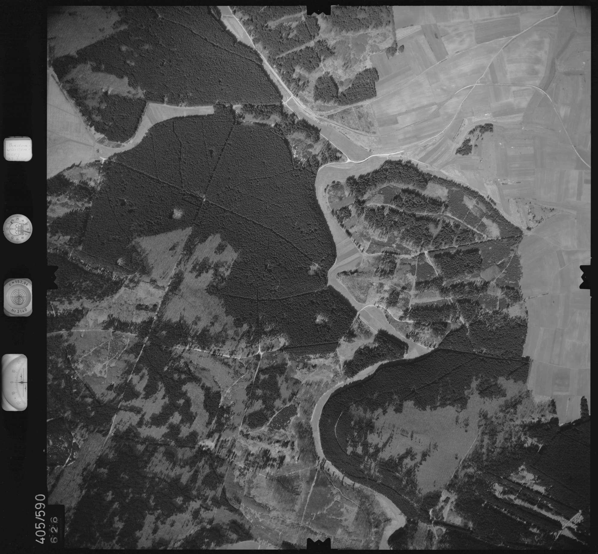 Luftbild: Film 10 Bildnr. 626, Bild 1