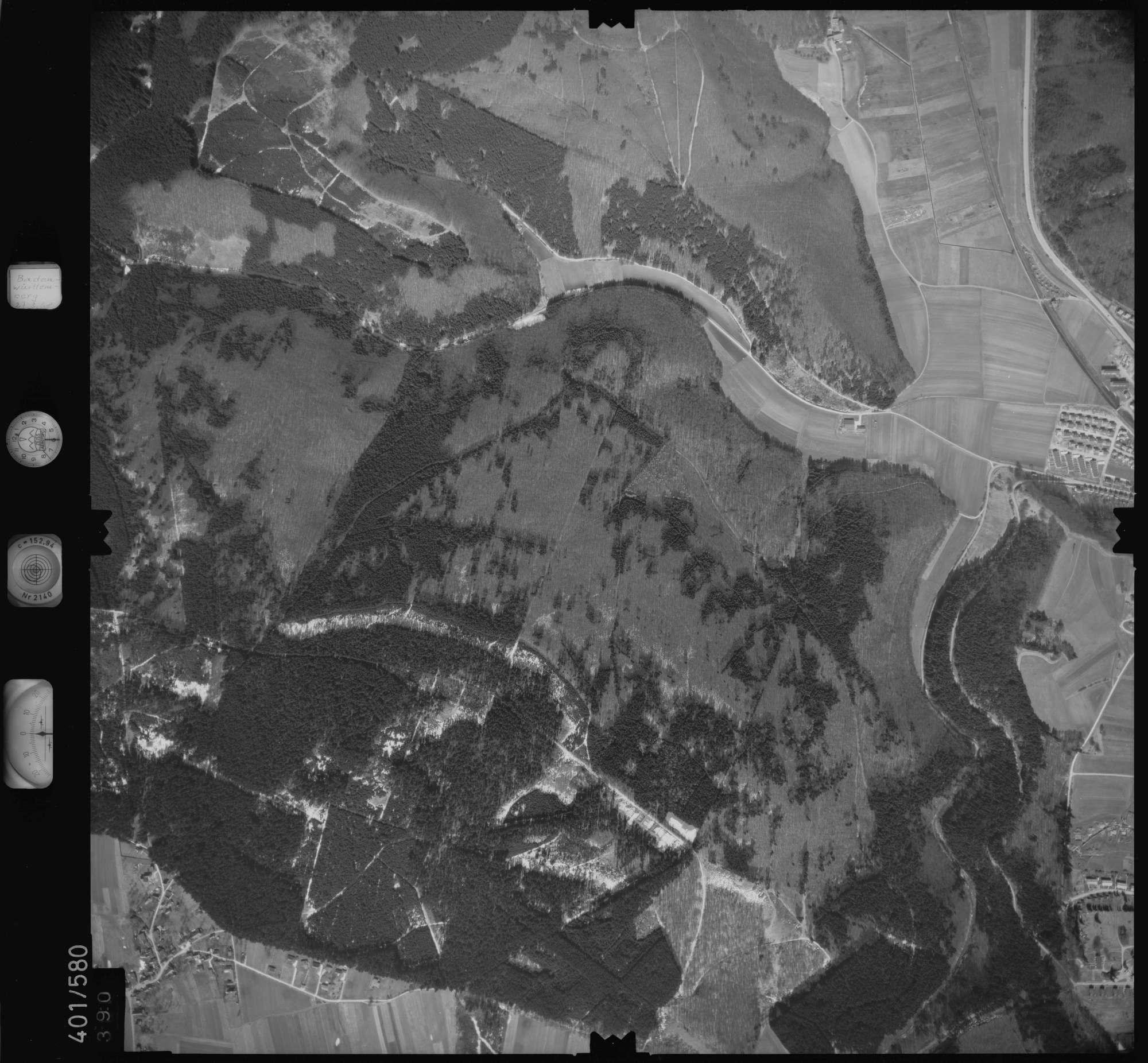 Luftbild: Film 10 Bildnr. 390, Bild 1