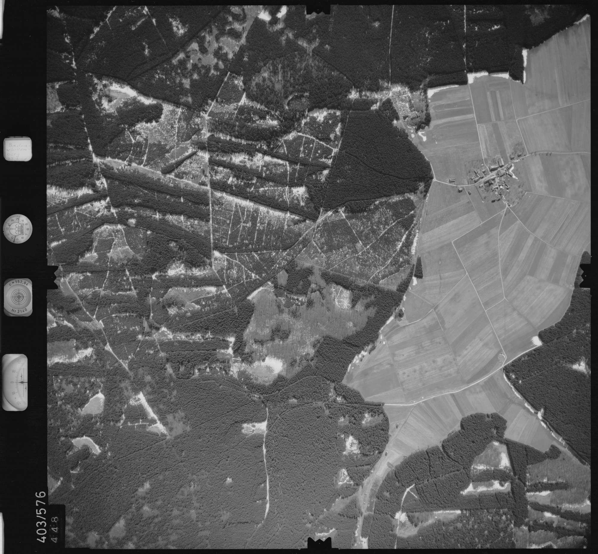 Luftbild: Film 10 Bildnr. 448, Bild 1