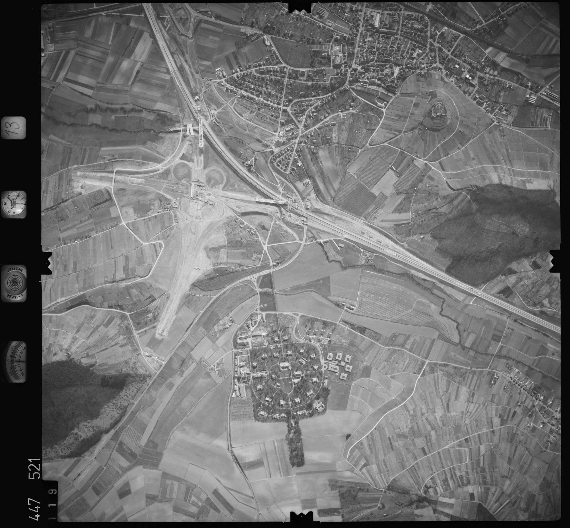 Luftbild: Film 13 Bildnr. 119, Bild 1