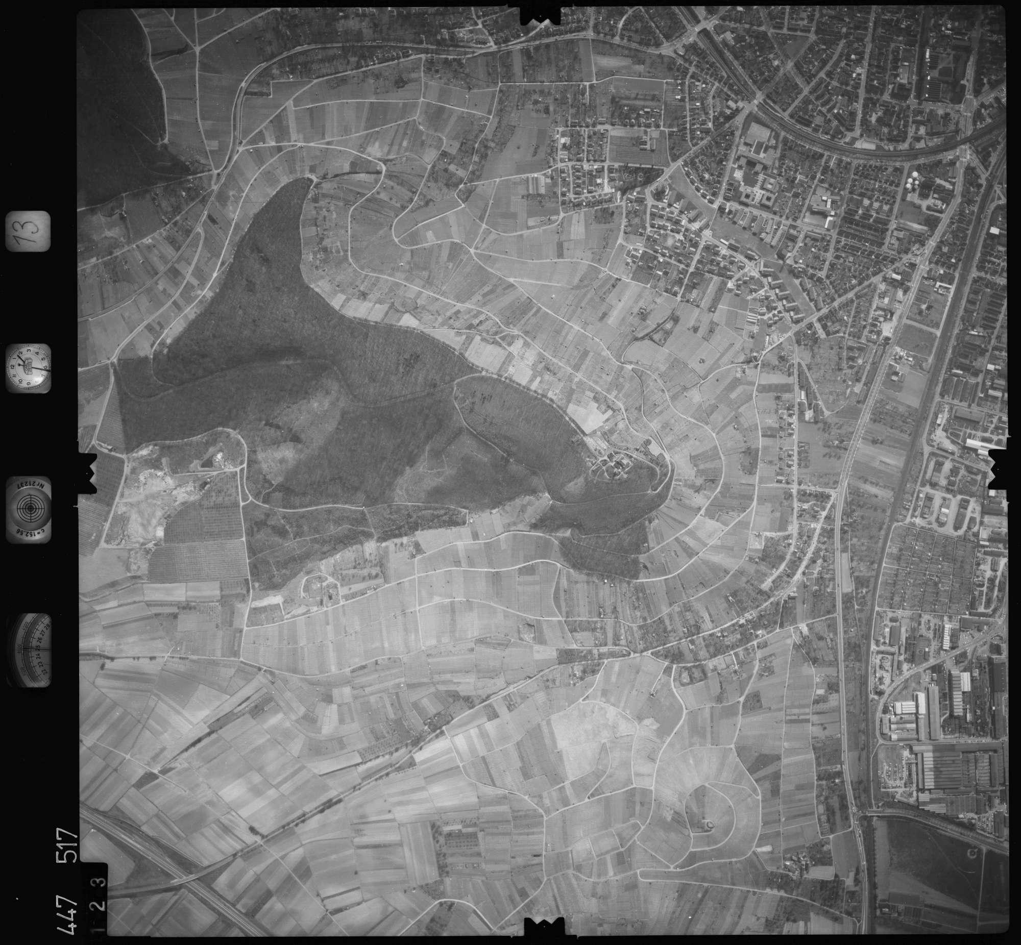 Luftbild: Film 13 Bildnr. 123, Bild 1