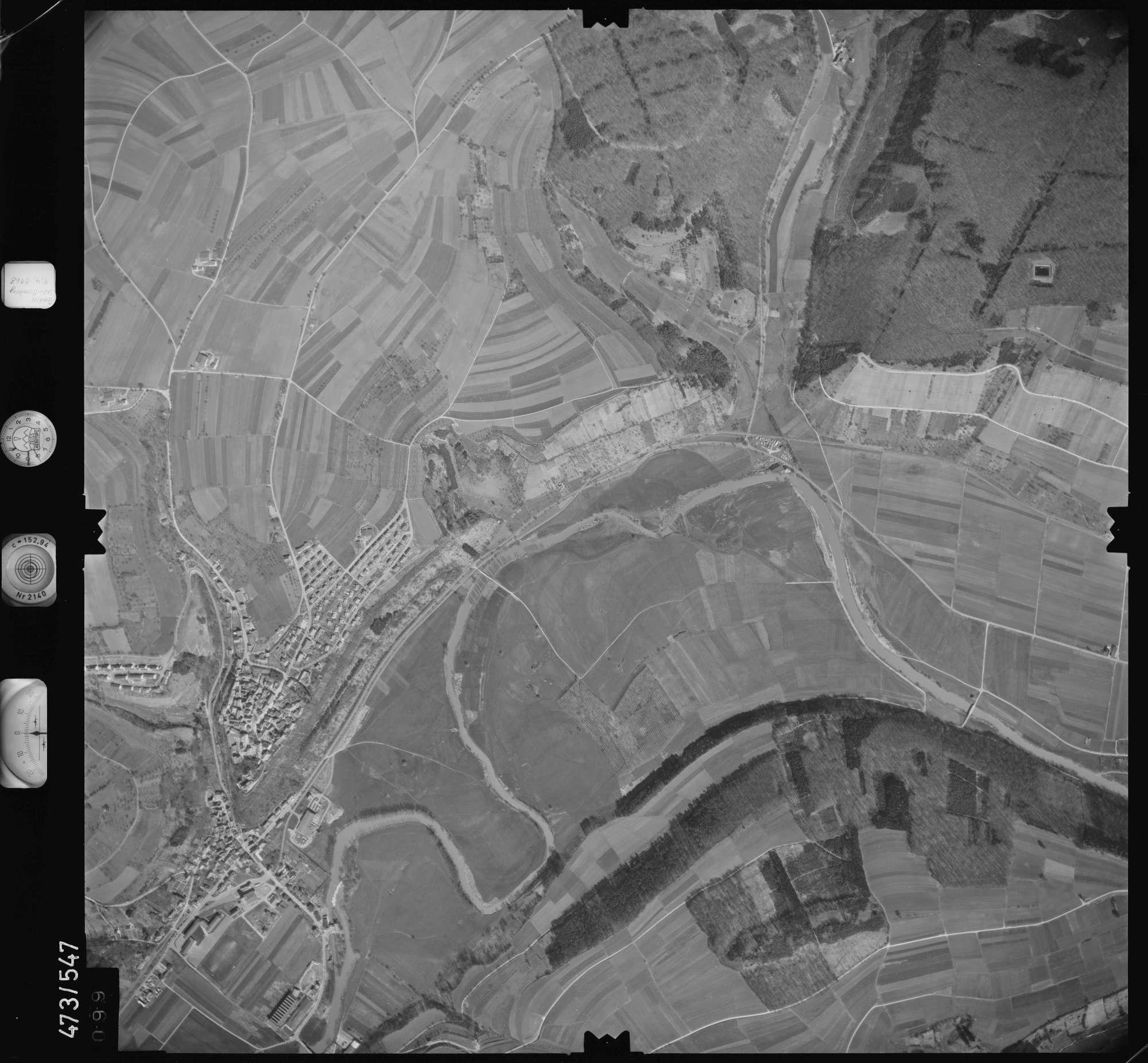 Luftbild: Film 100 Bildnr. 99, Bild 1