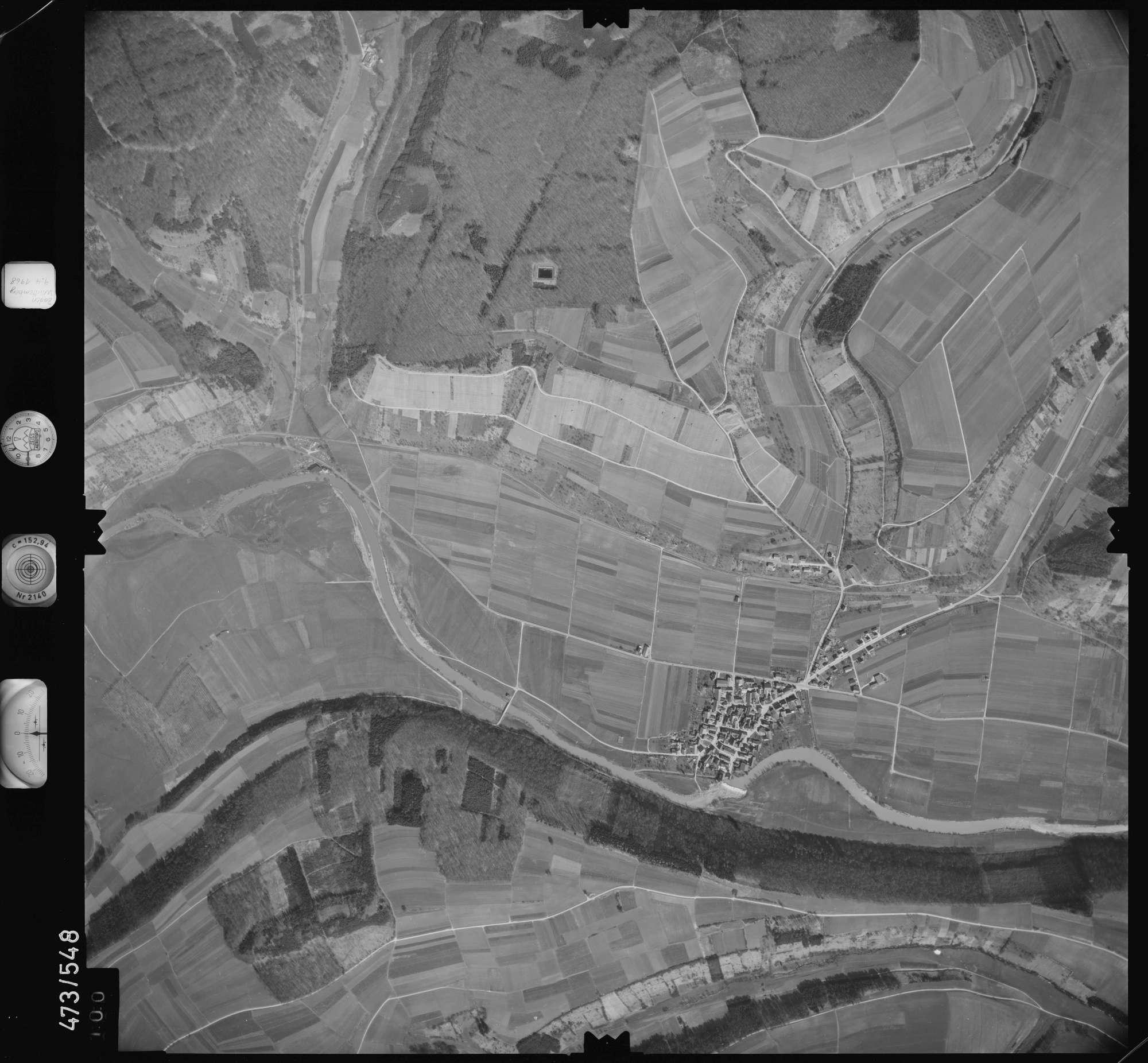 Luftbild: Film 100 Bildnr. 100, Bild 1