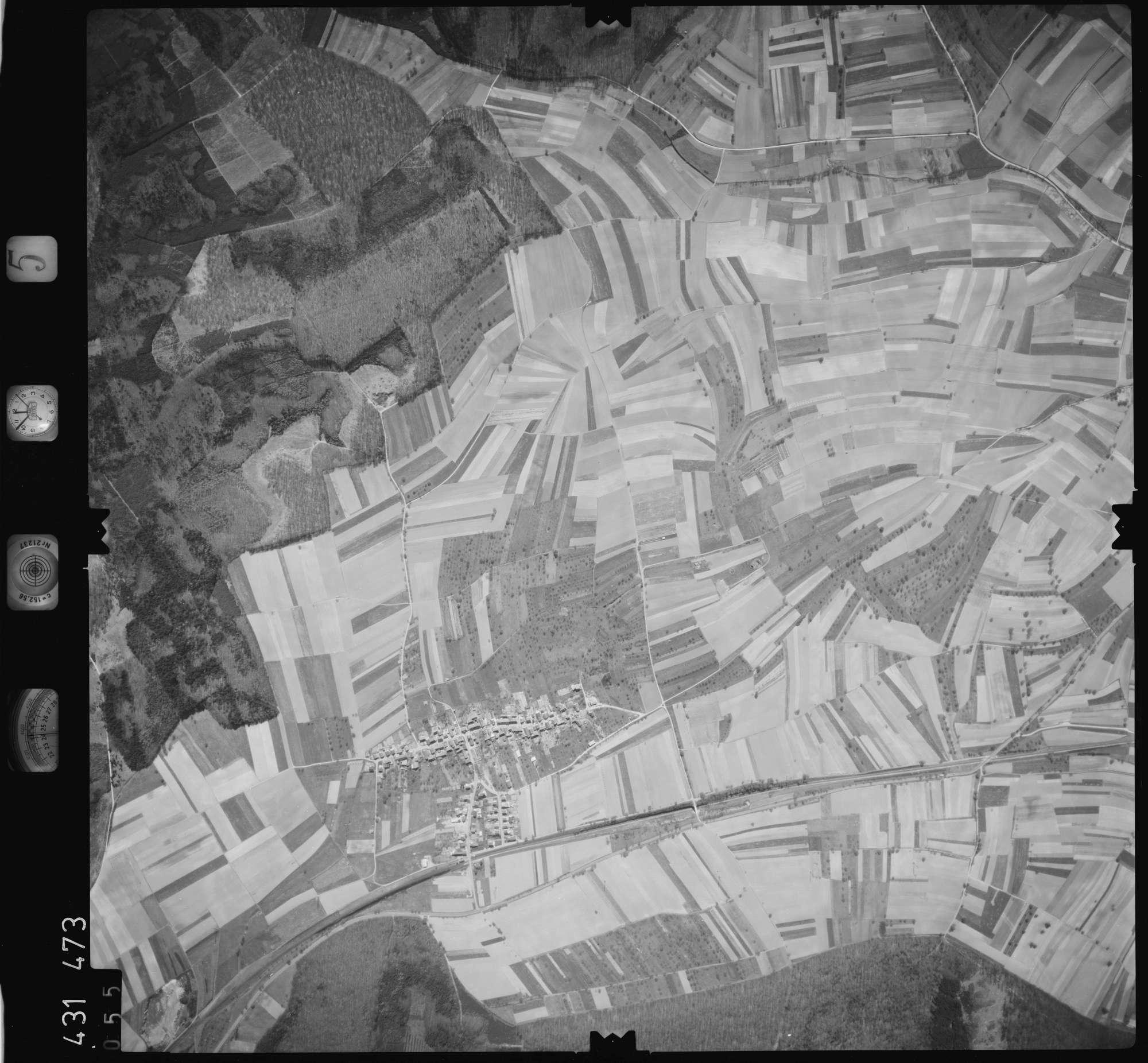 Luftbild: Film 5 Bildnr. 55, Bild 1