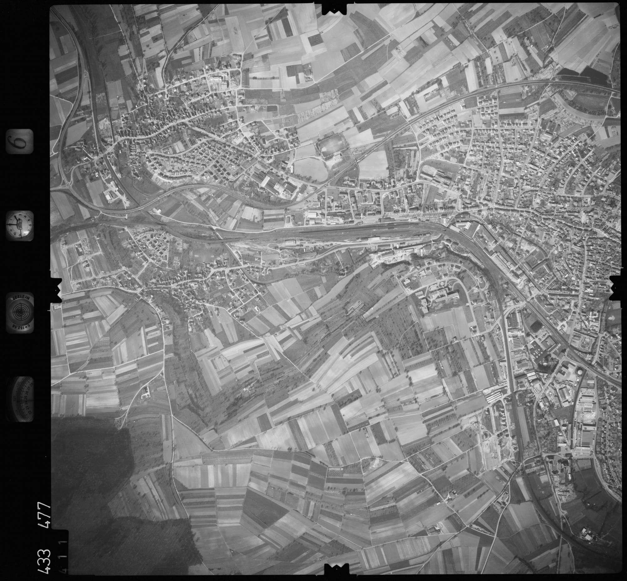 Luftbild: Film 6 Bildnr. 411, Bild 1