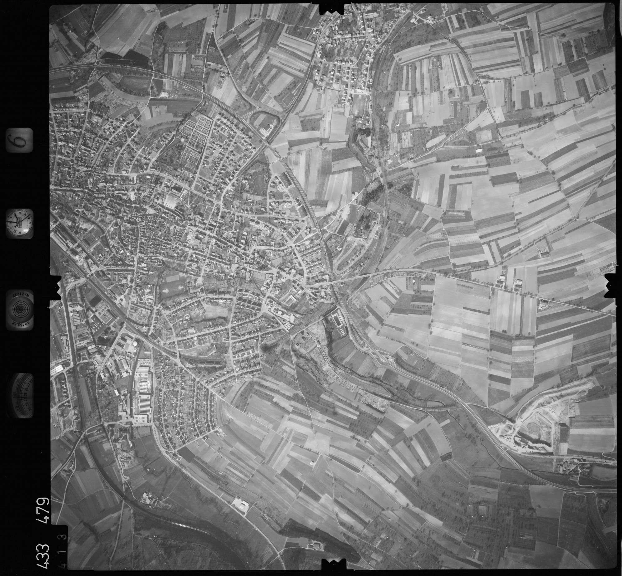 Luftbild: Film 6 Bildnr. 413, Bild 1