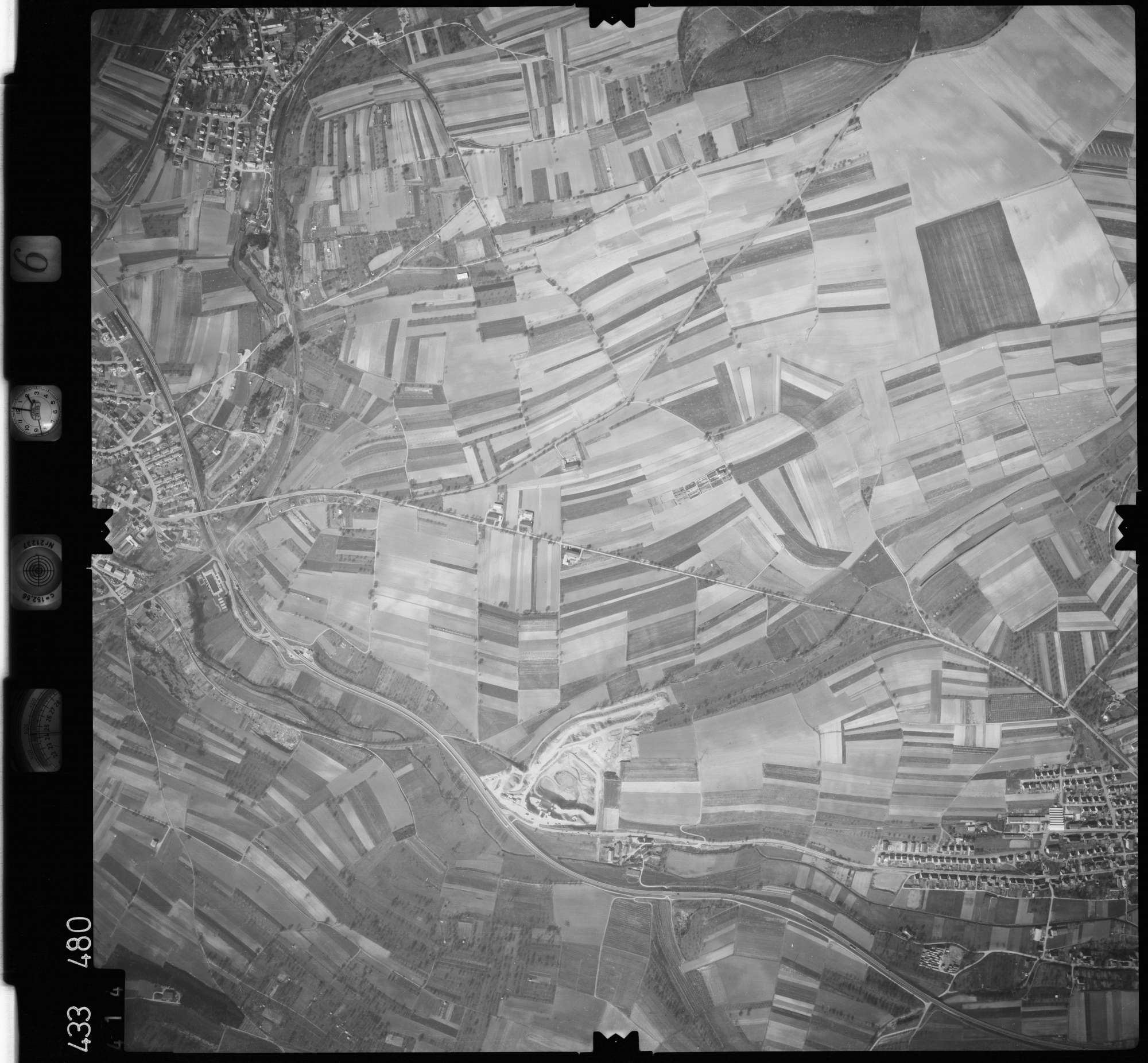 Luftbild: Film 6 Bildnr. 414, Bild 1