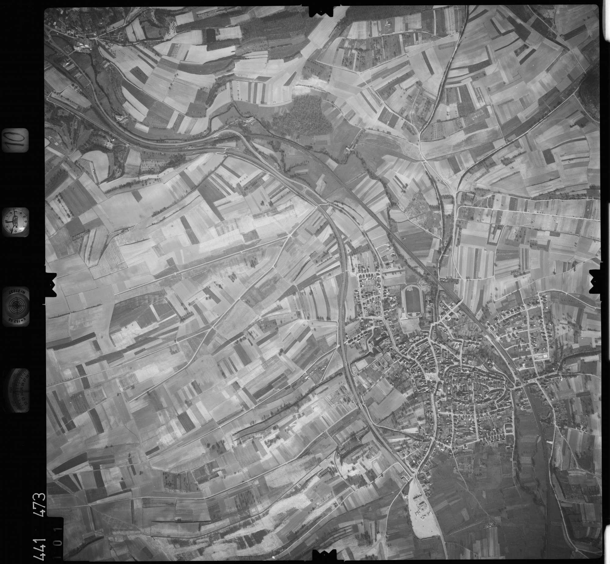 Luftbild: Film 10 Bildnr. 101, Bild 1