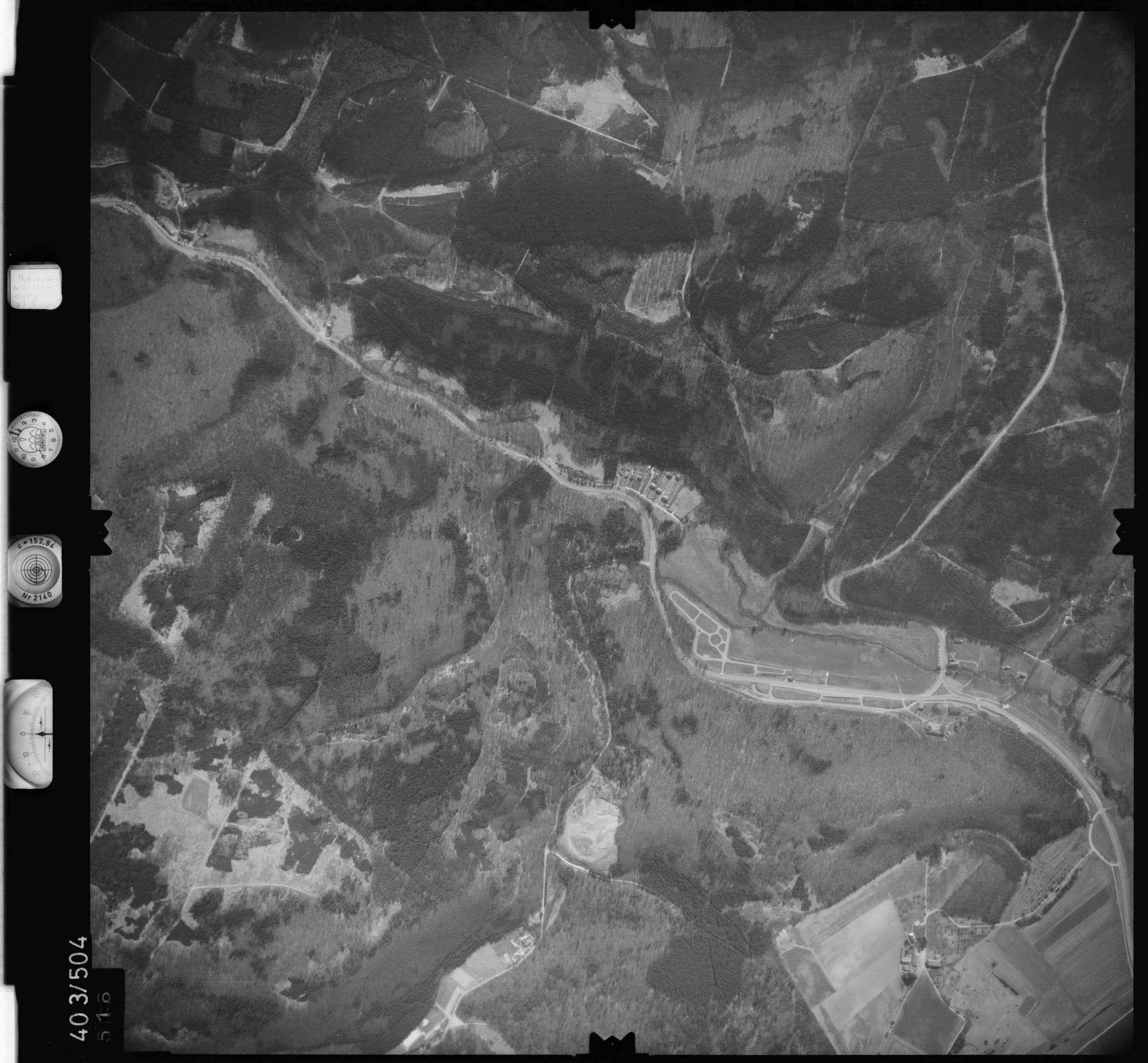 Luftbild: Film 10 Bildnr. 516, Bild 1