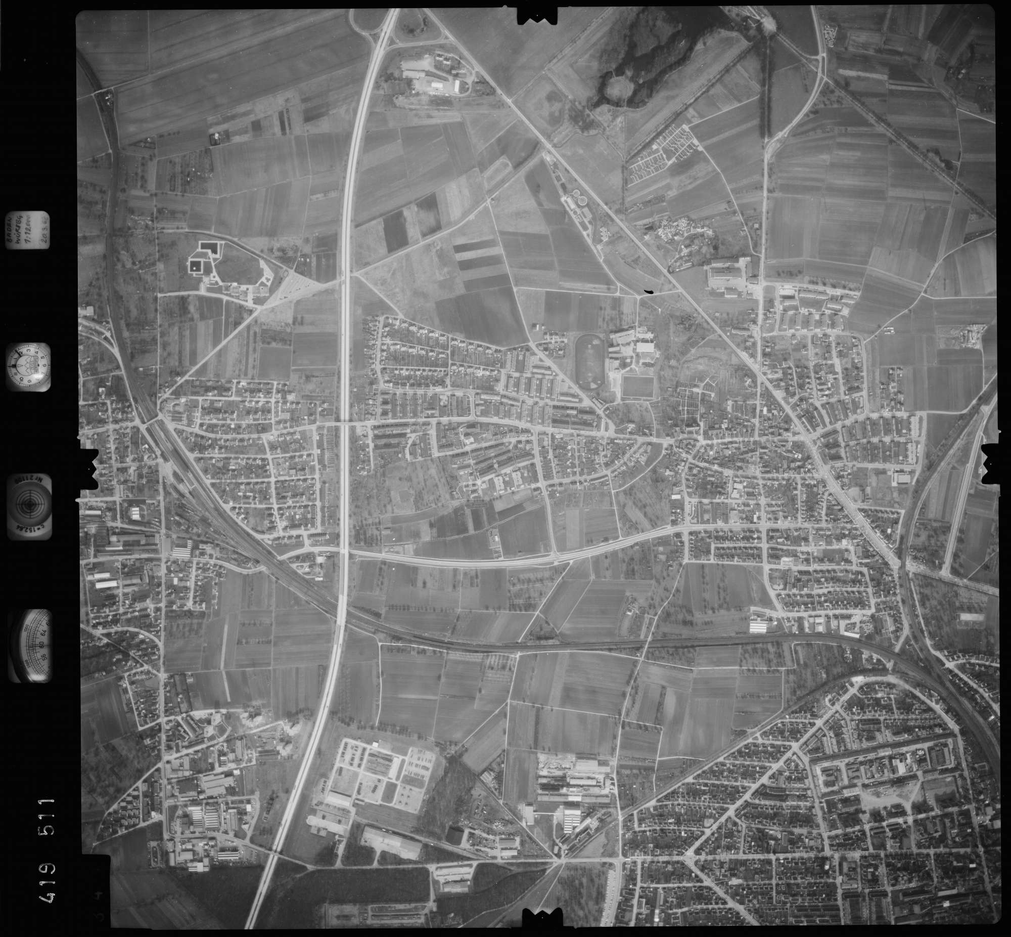 Luftbild: Film 2 Bildnr. 345, Bild 1