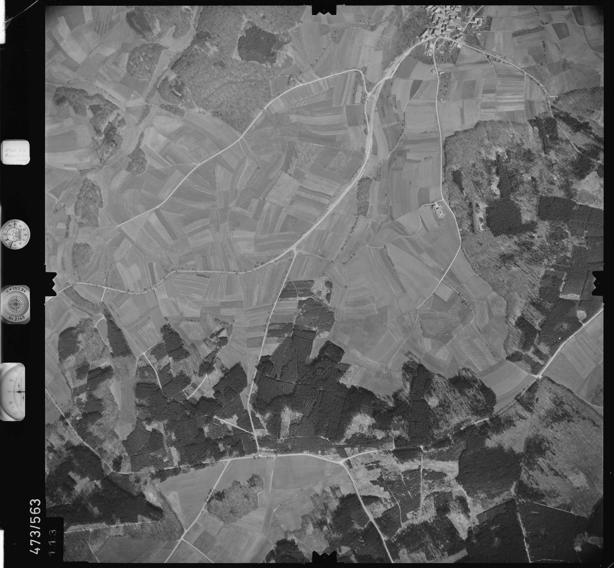 Luftbild: Film 100 Bildnr. 113, Bild 1
