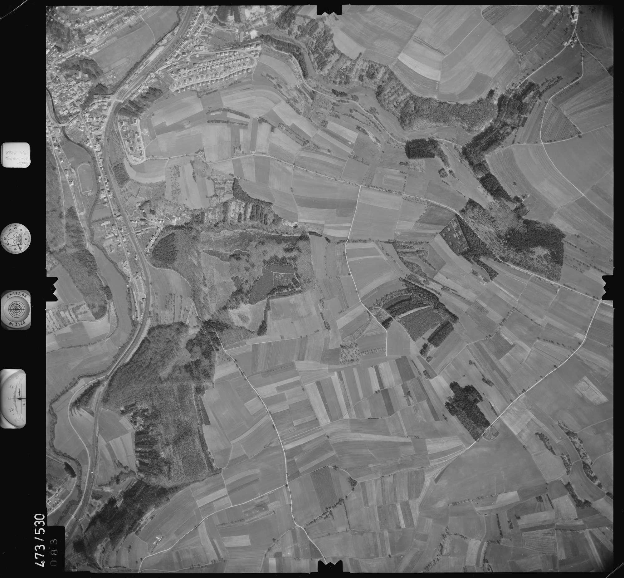 Luftbild: Film 100 Bildnr. 83, Bild 1