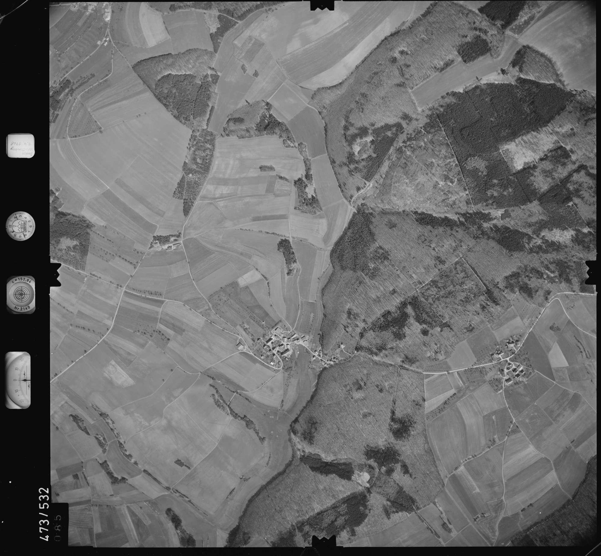 Luftbild: Film 100 Bildnr. 85, Bild 1