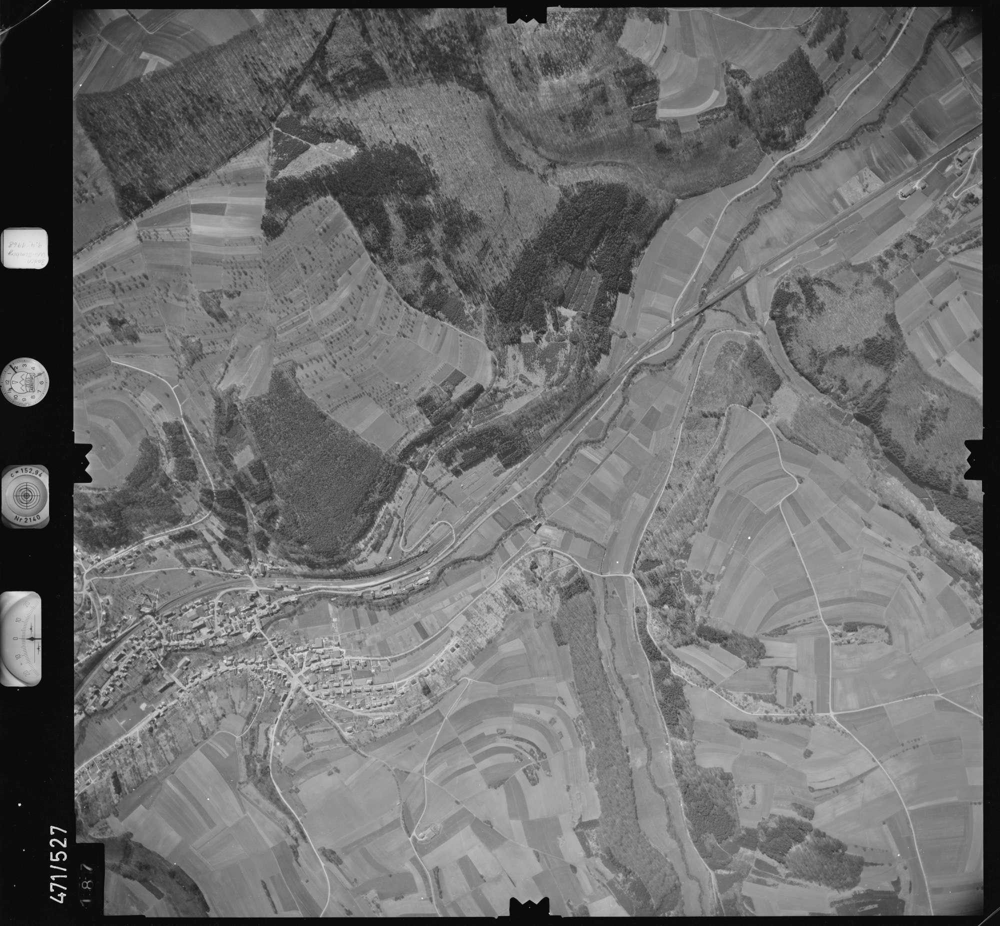 Luftbild: Film 100 Bildnr. 187, Bild 1