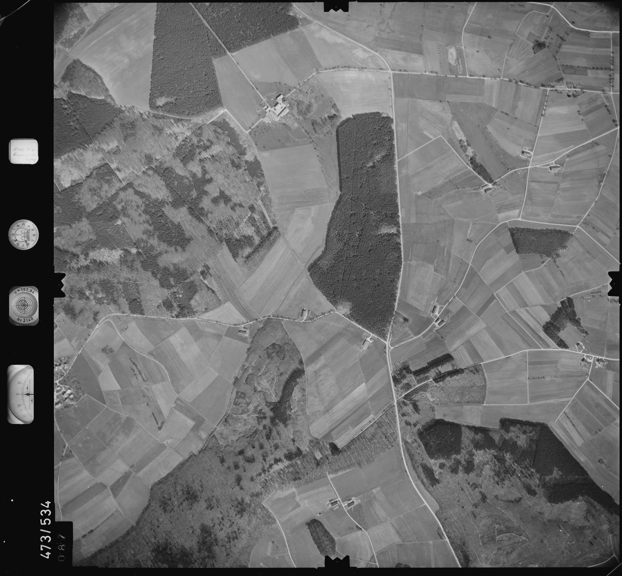 Luftbild: Film 100 Bildnr. 87, Bild 1