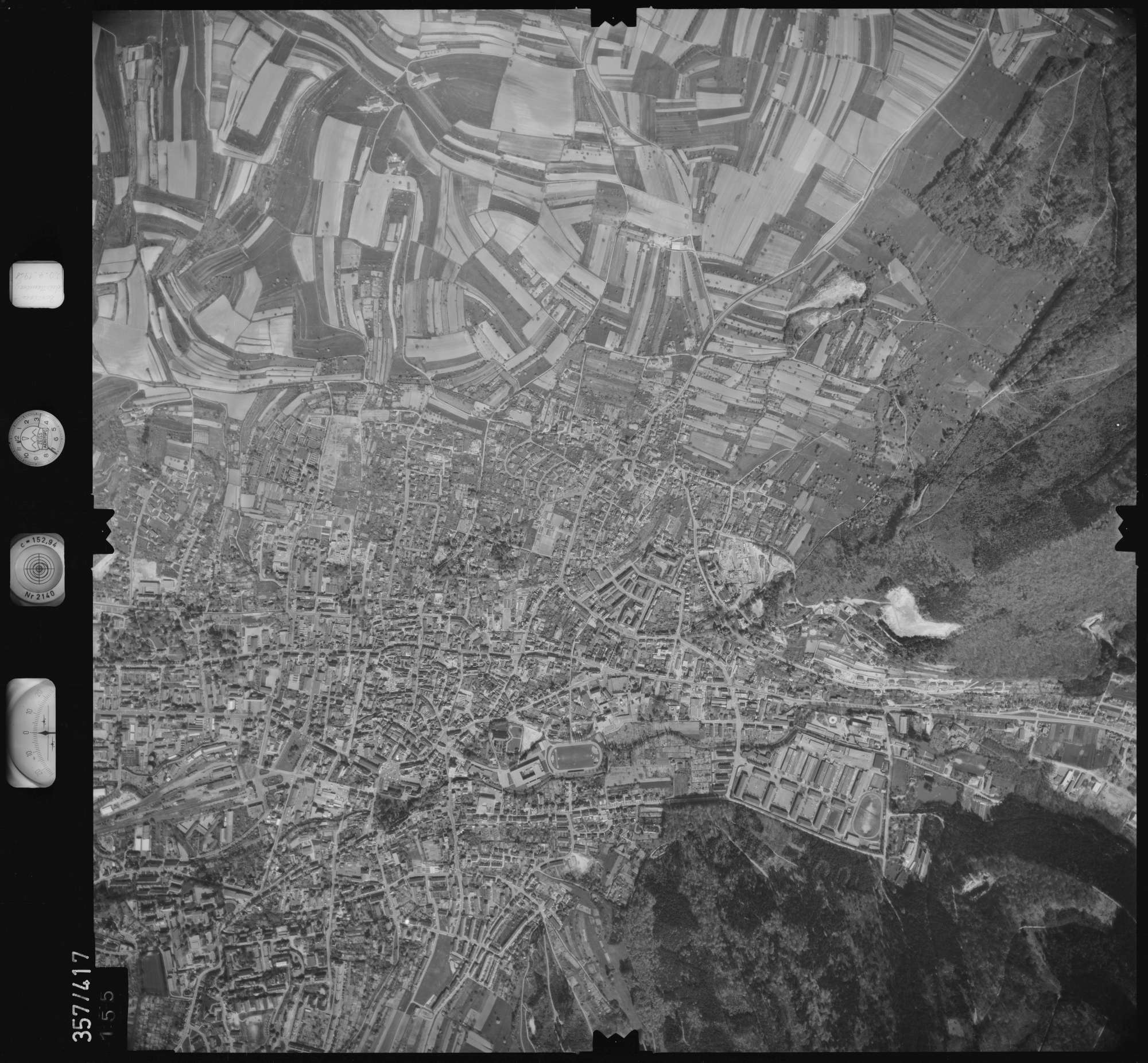 Luftbild: Film 11 Bildnr. 155, Bild 1