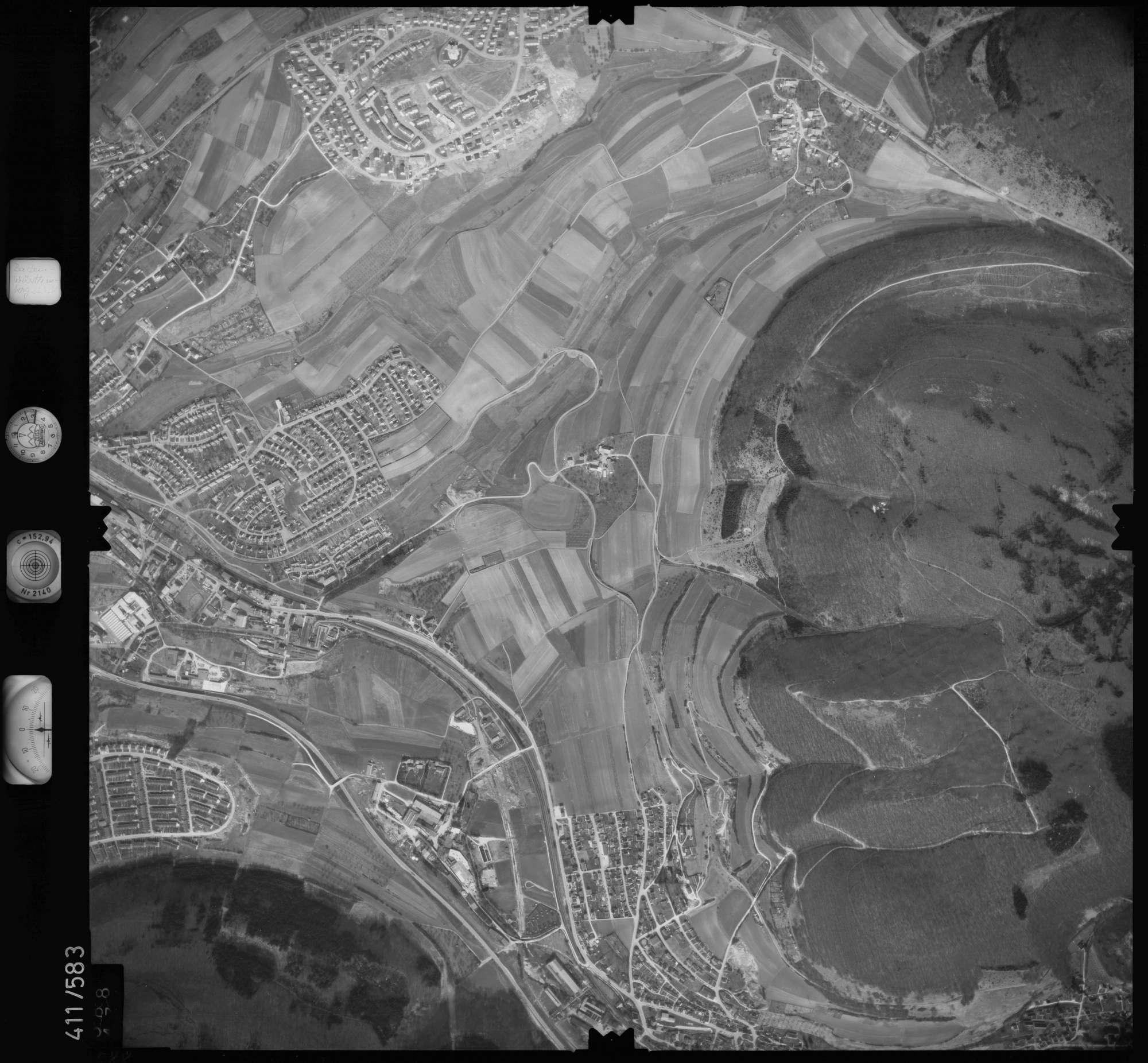 Luftbild: Film 7 Bildnr. 588, Bild 1