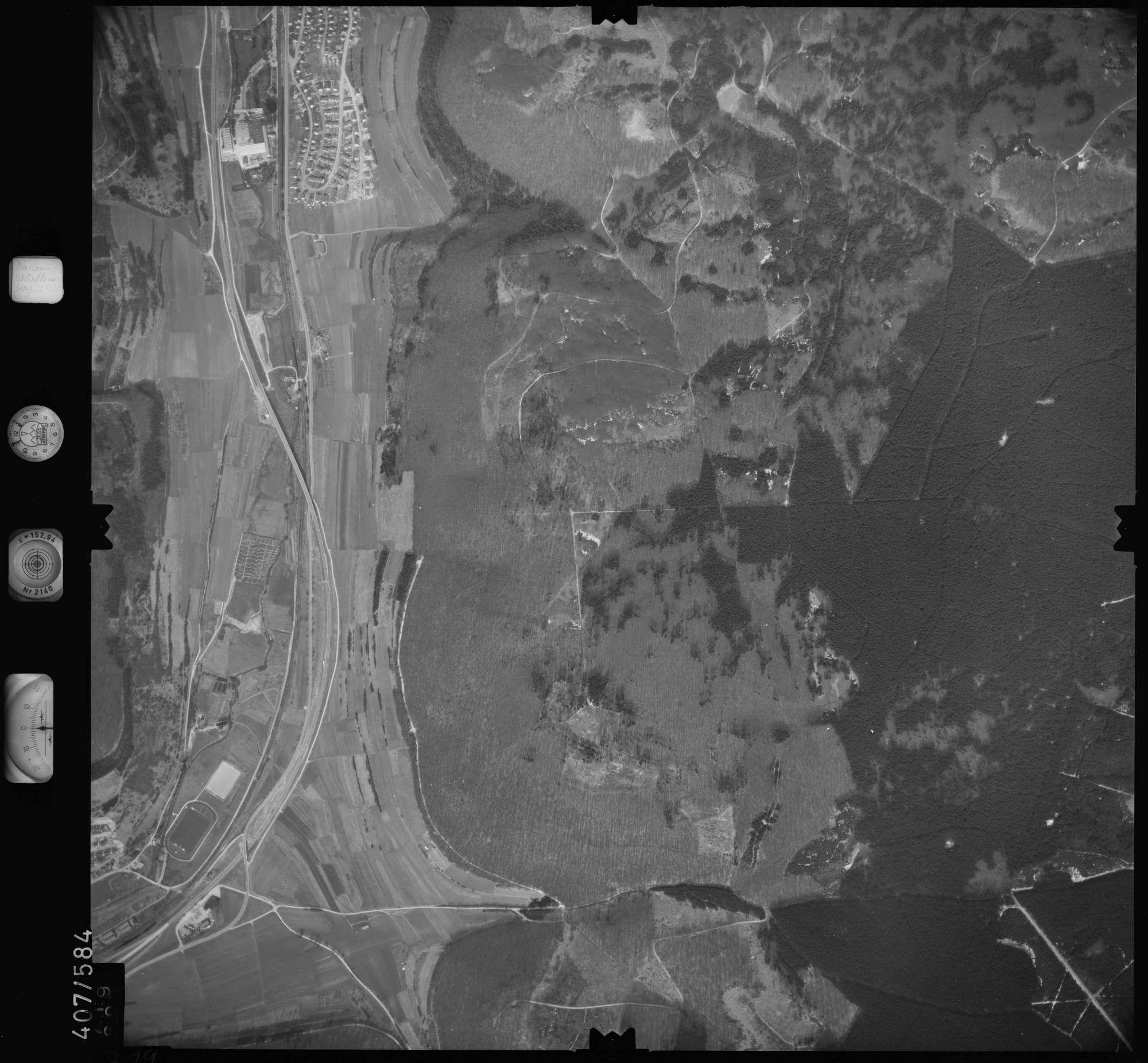 Luftbild: Film 7 Bildnr. 719, Bild 1