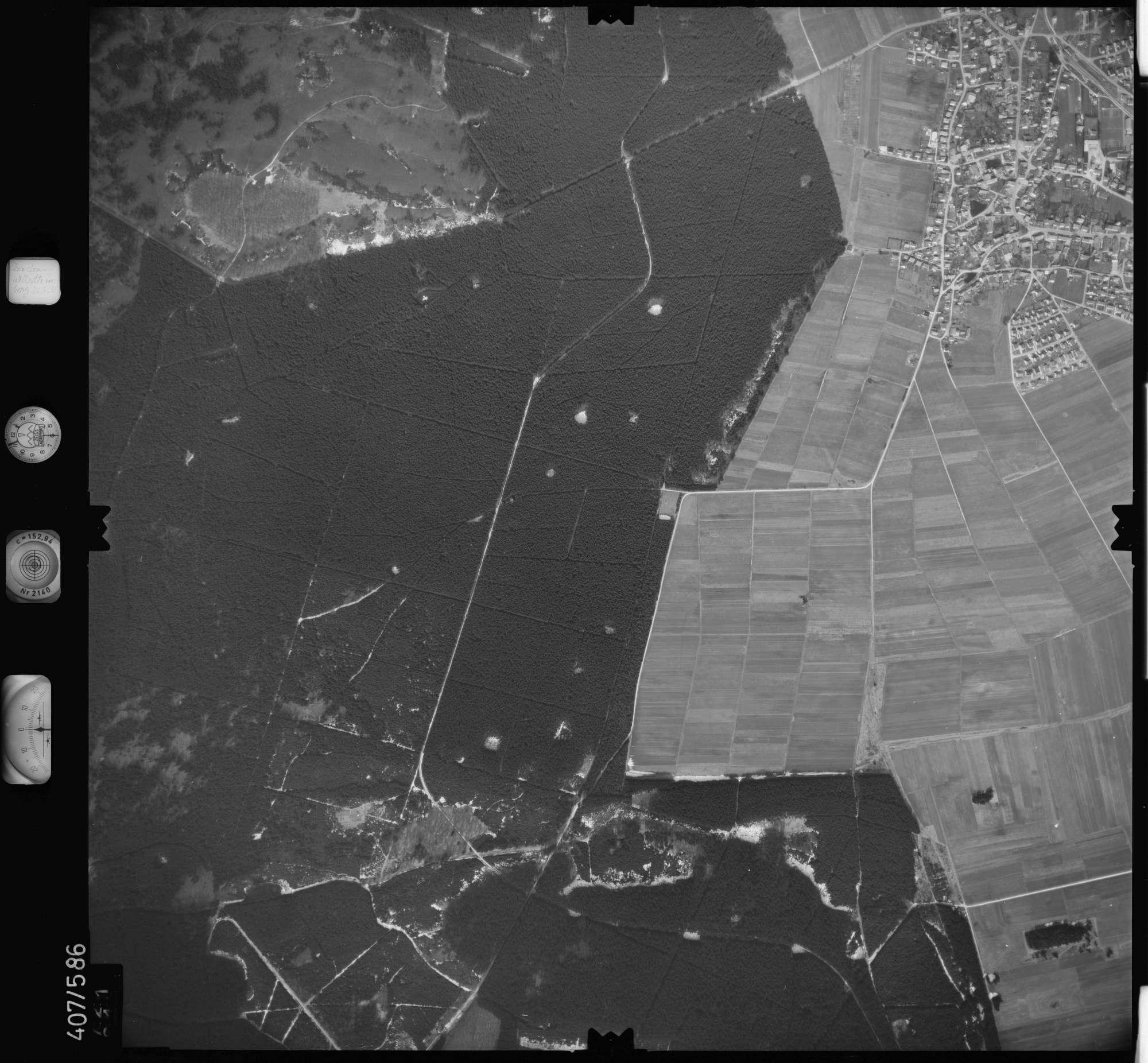 Luftbild: Film 7 Bildnr. 721, Bild 1