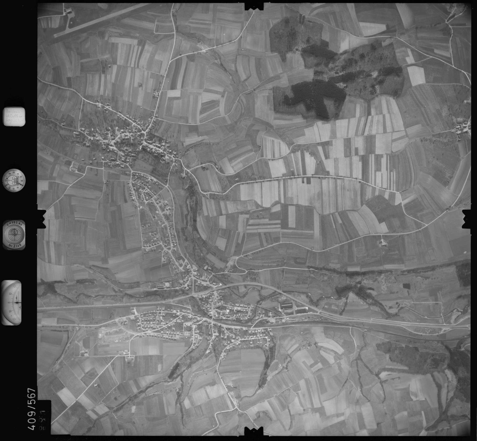 Luftbild: Film 7 Bildnr. 651, Bild 1