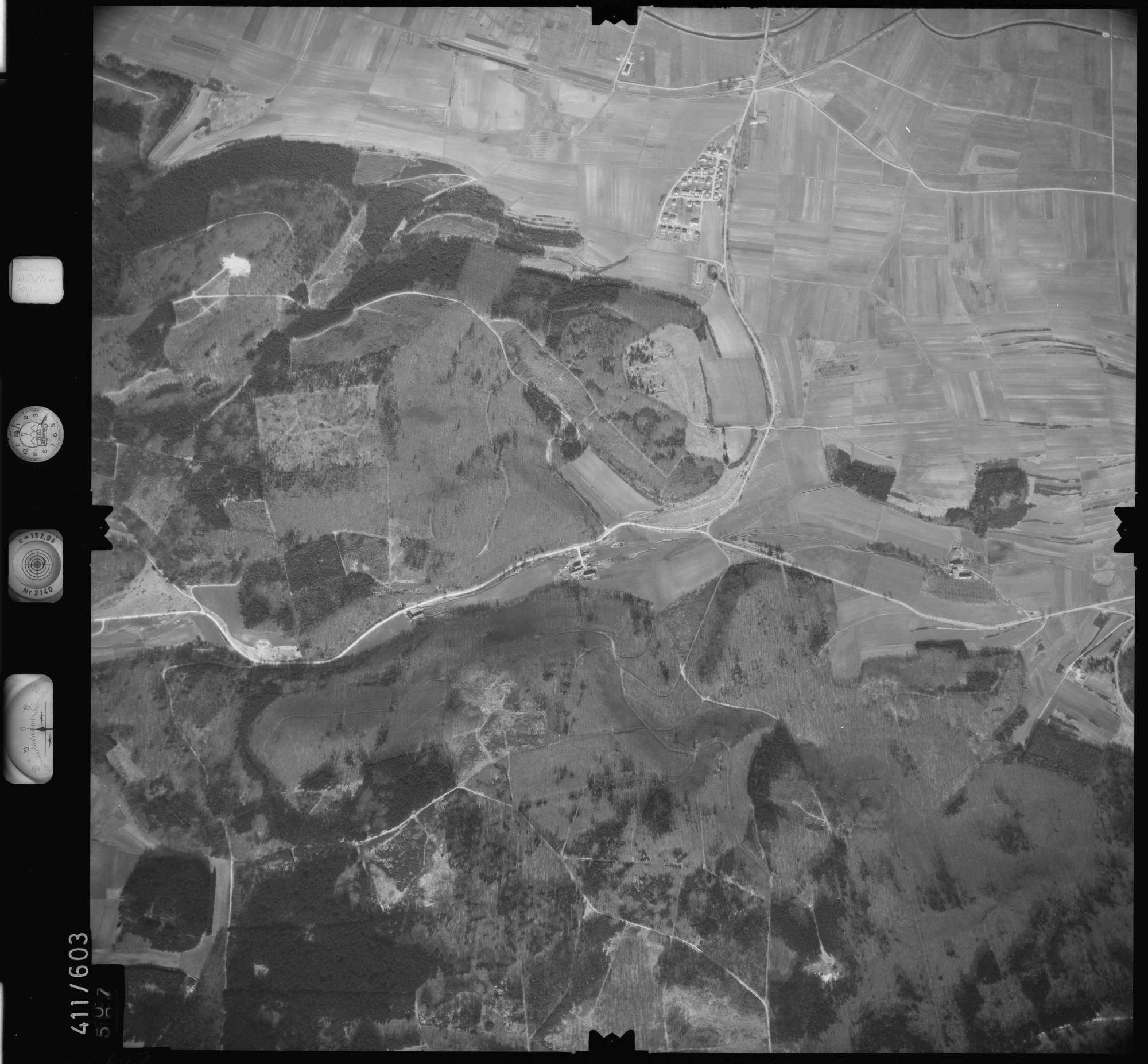 Luftbild: Film 7 Bildnr. 607, Bild 1