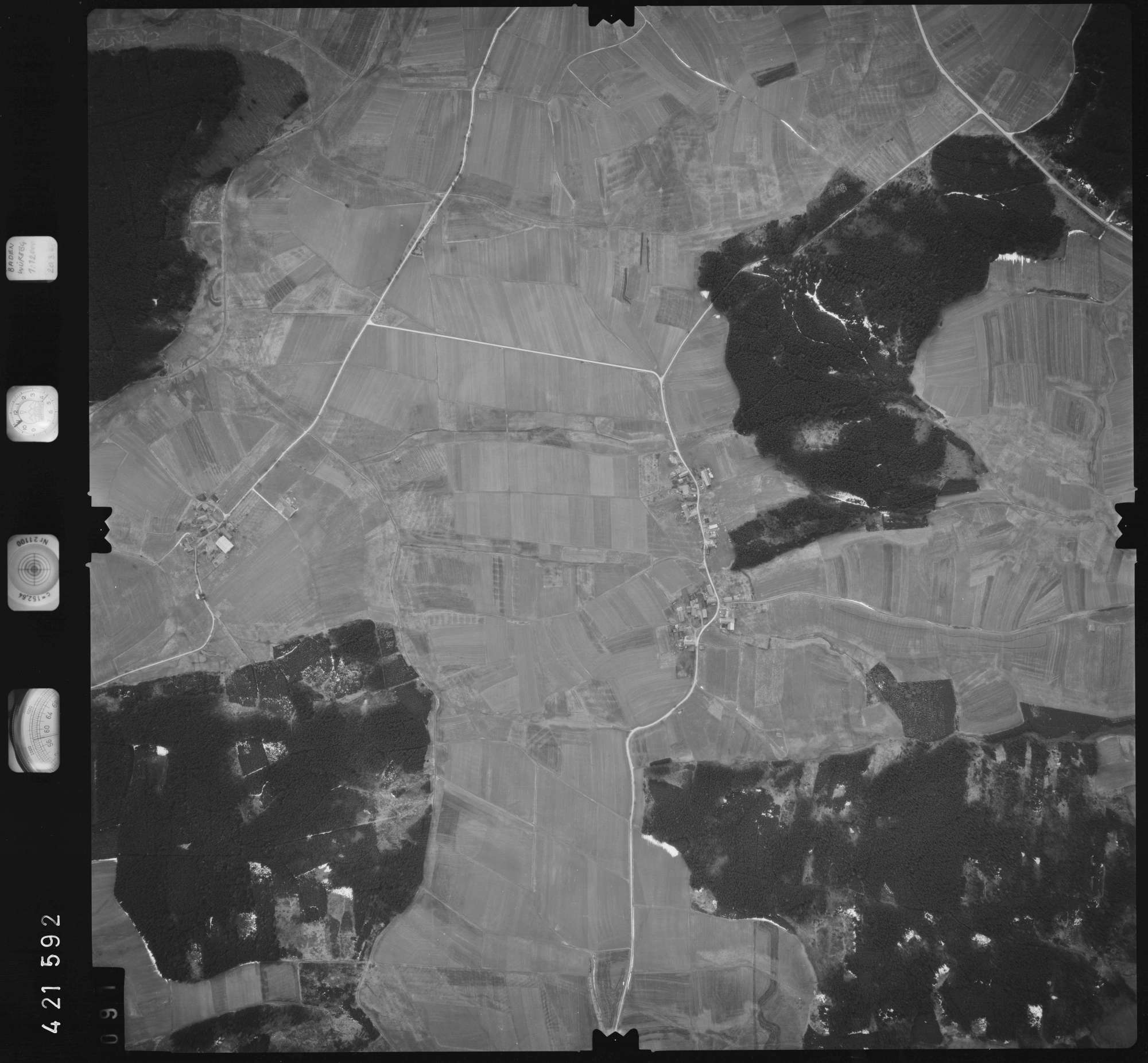 Luftbild: Film 1 Bildnr. 91, Bild 1