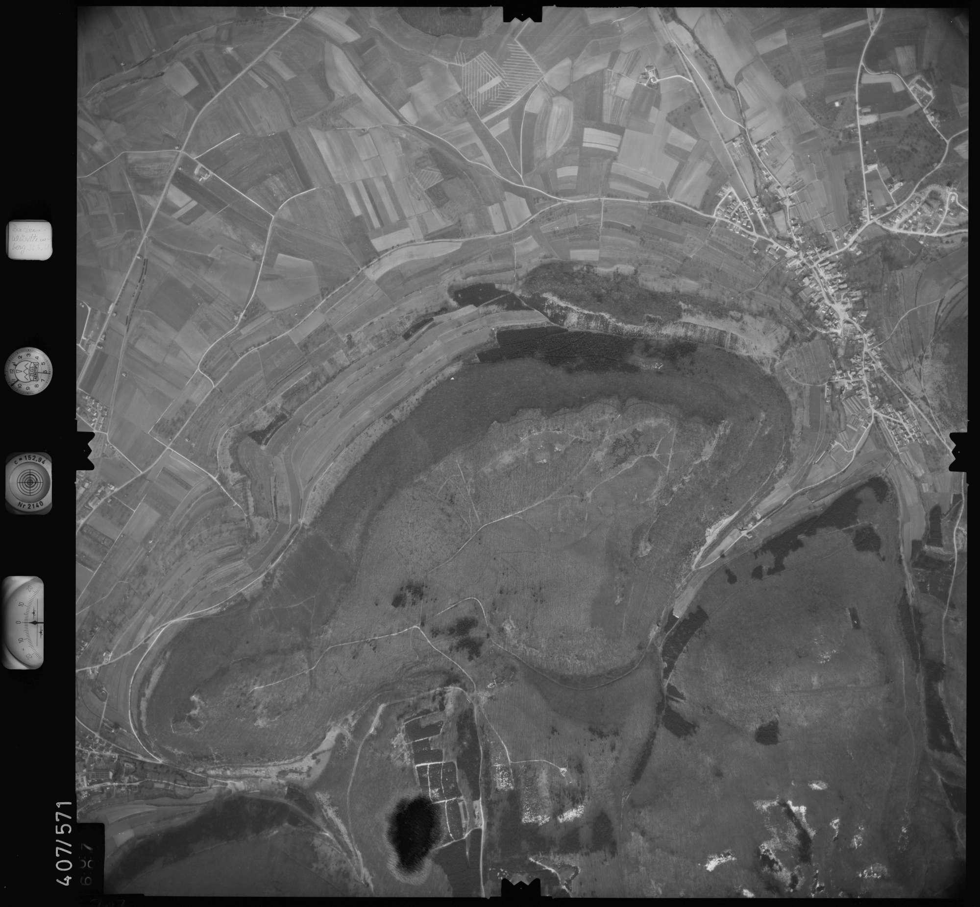 Luftbild: Film 7 Bildnr. 707, Bild 1