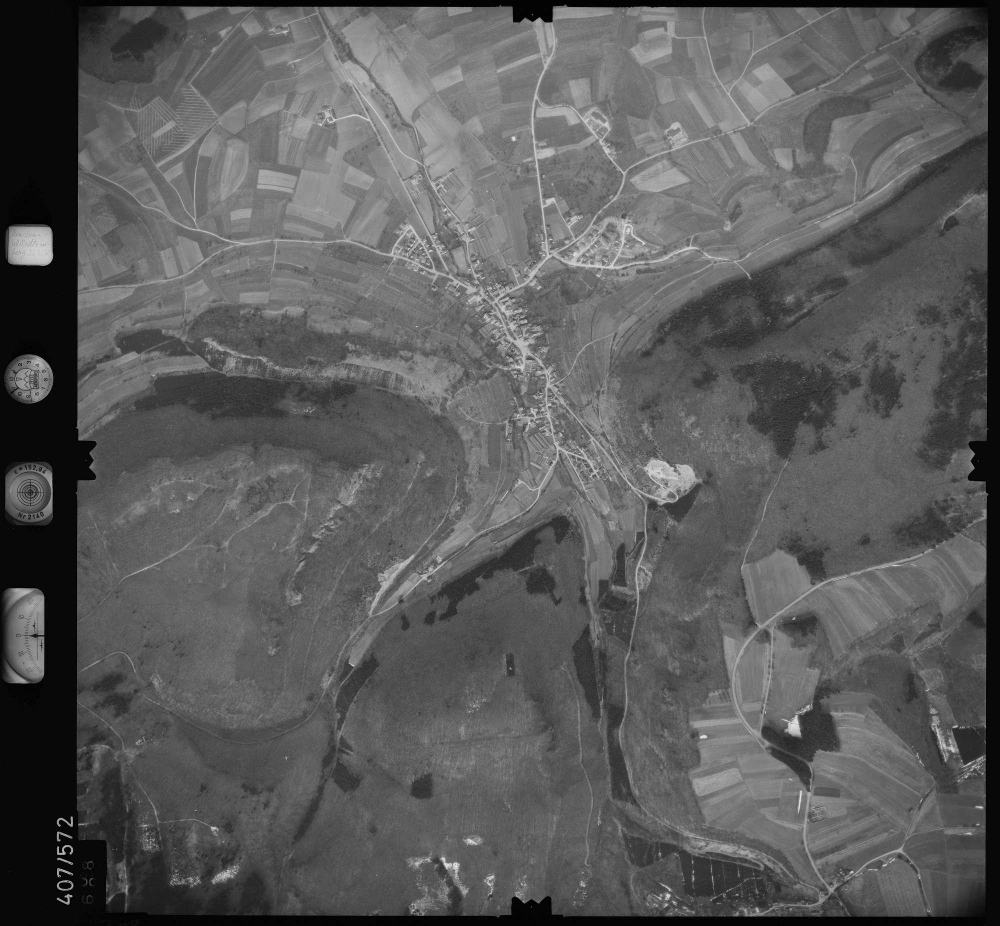 Luftbild: Film 7 Bildnr. 708, Bild 1