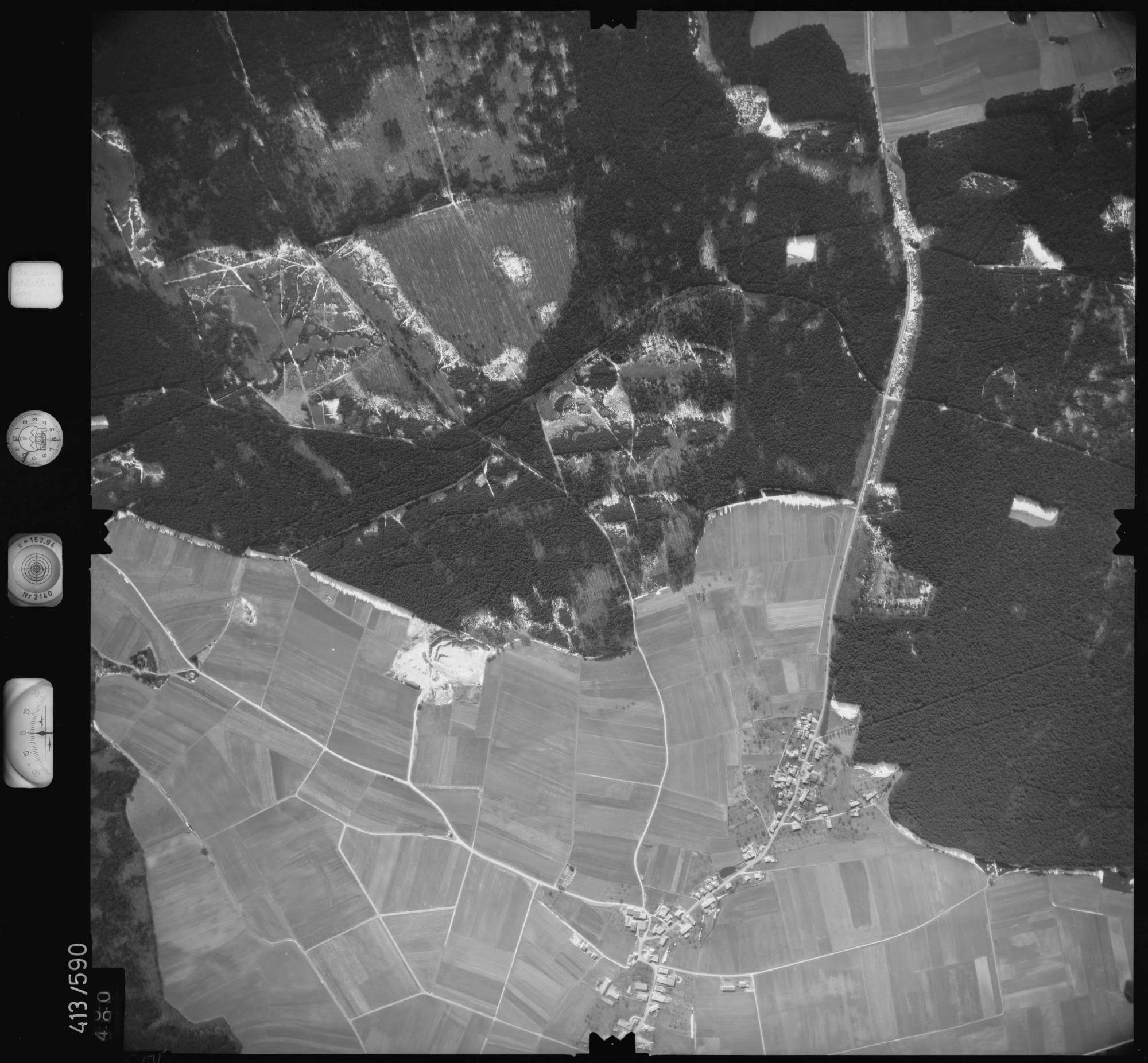 Luftbild: Film 6 Bildnr. 500, Bild 1