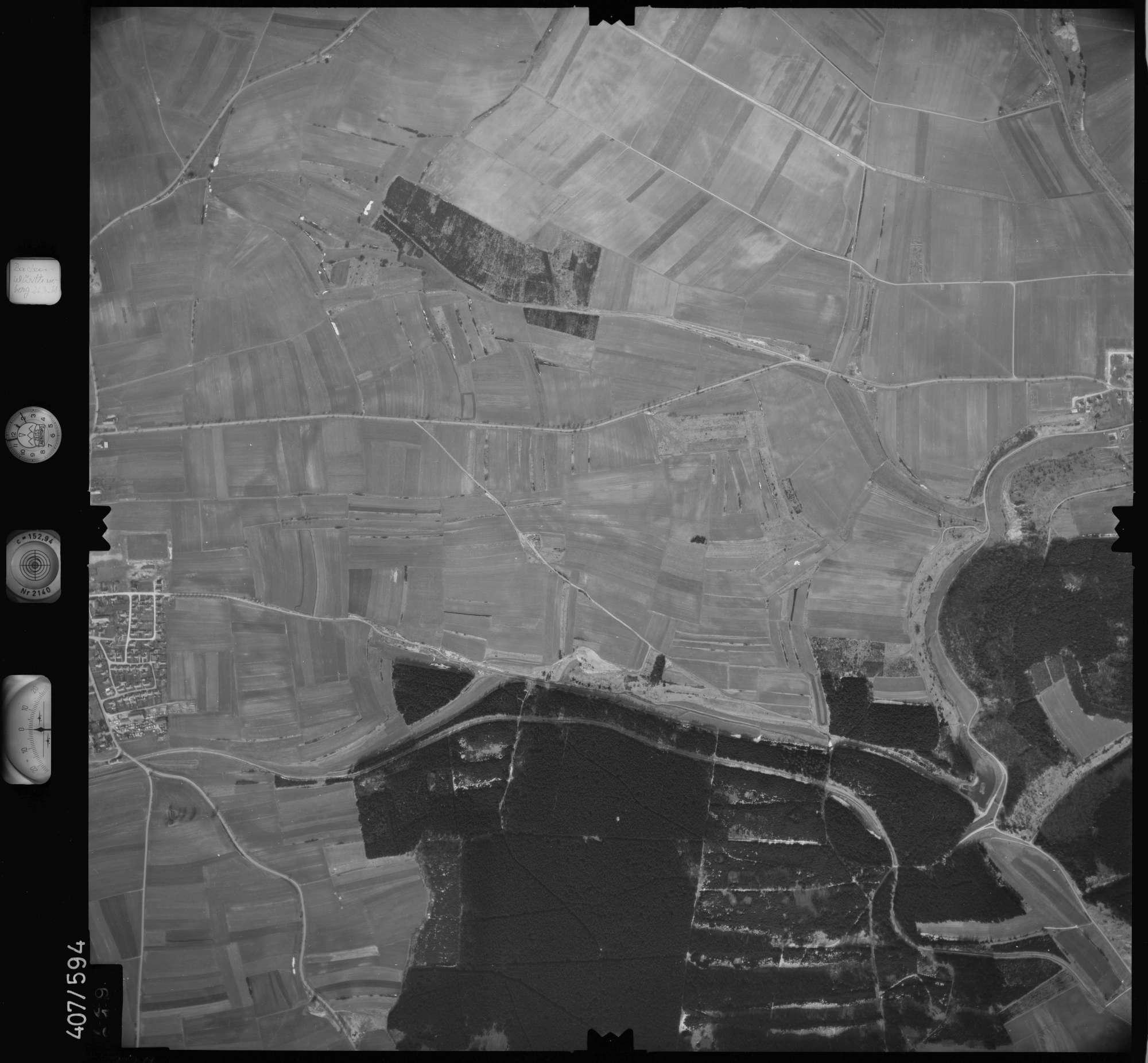 Luftbild: Film 7 Bildnr. 729, Bild 1