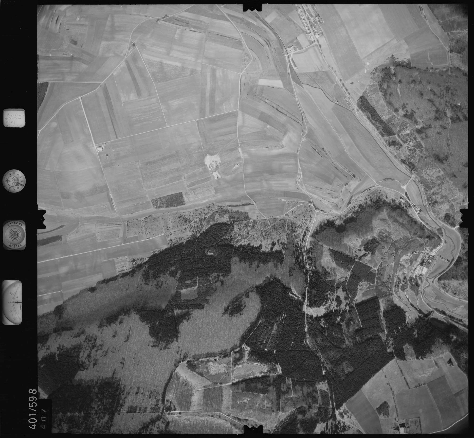 Luftbild: Film 10 Bildnr. 407, Bild 1