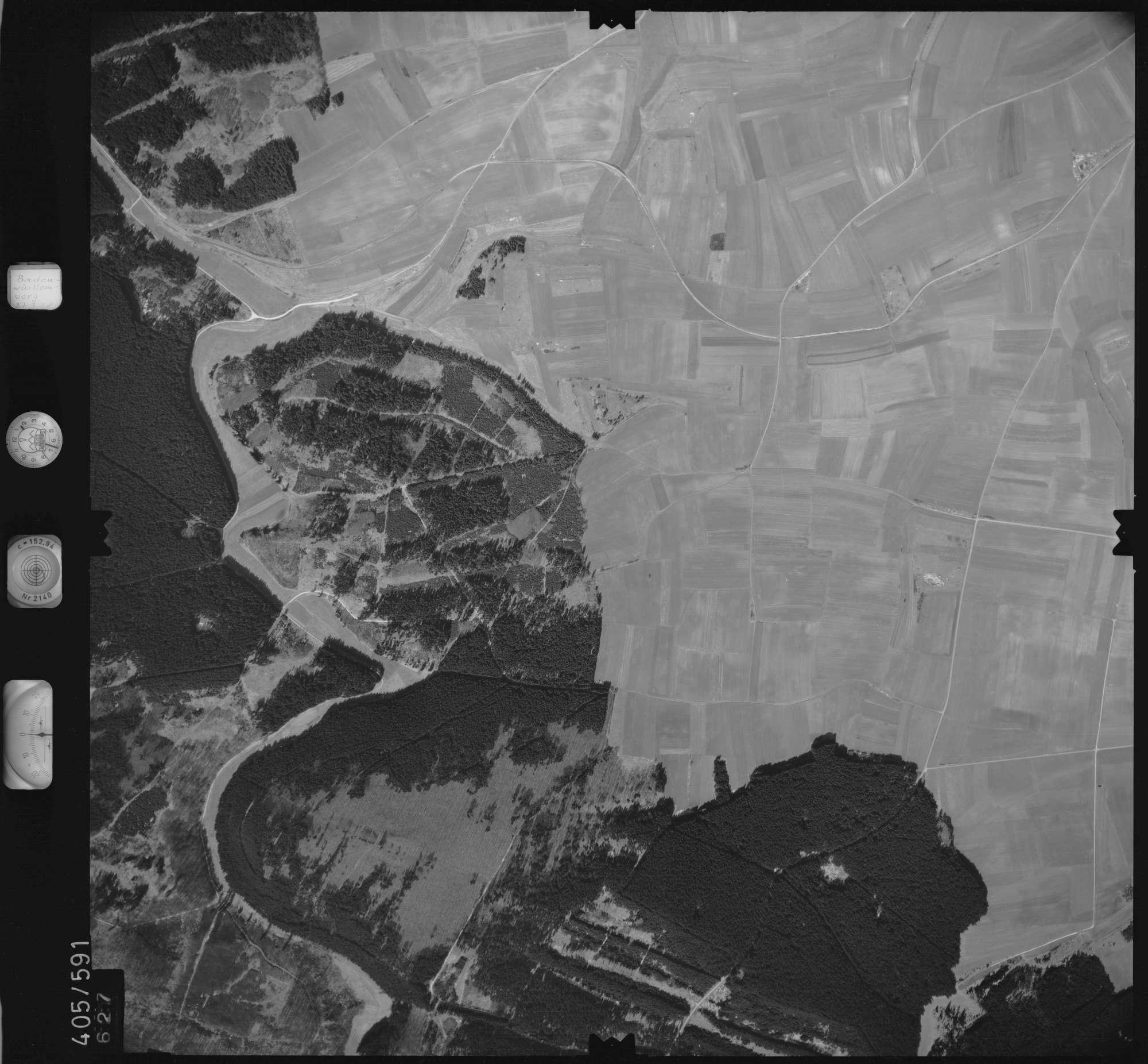Luftbild: Film 10 Bildnr. 627, Bild 1