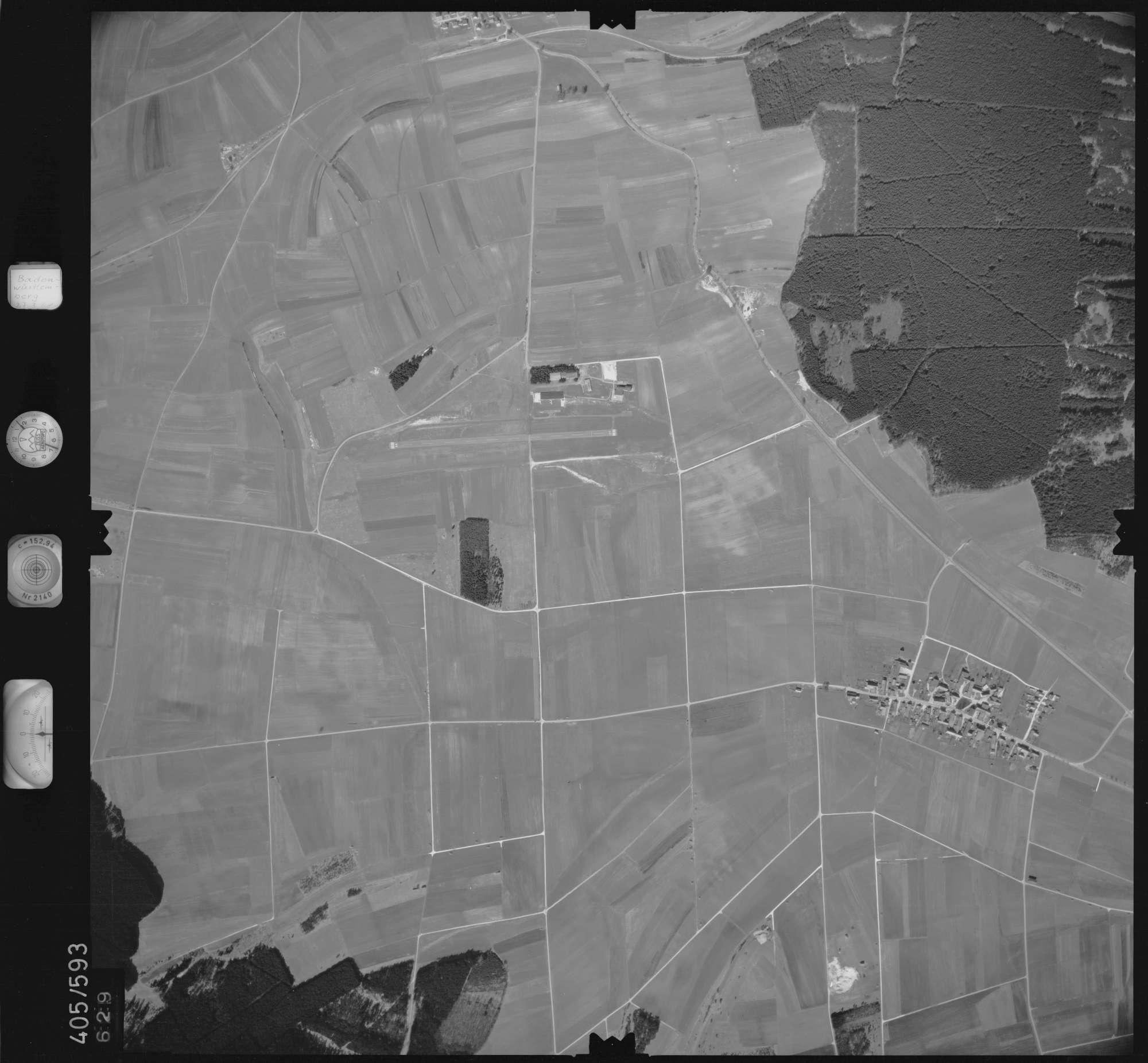 Luftbild: Film 10 Bildnr. 629, Bild 1