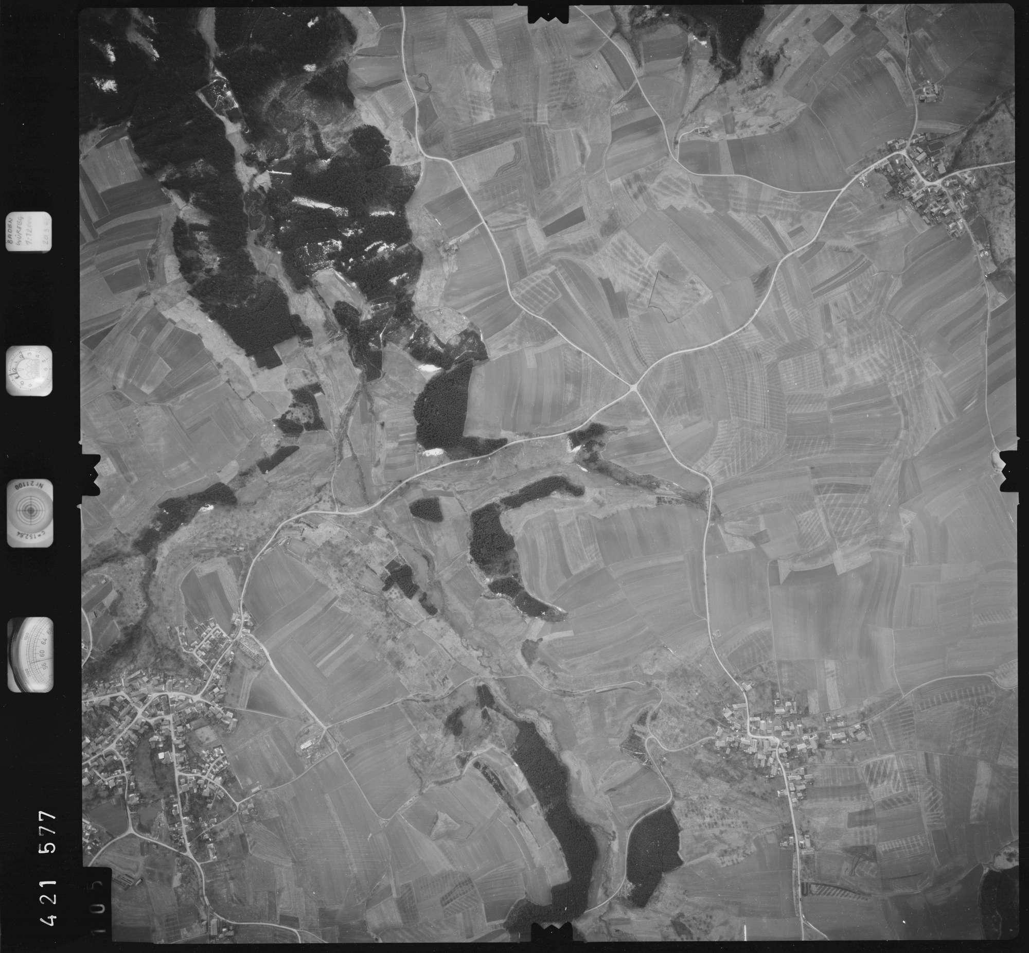 Luftbild: Film 1 Bildnr. 105, Bild 1