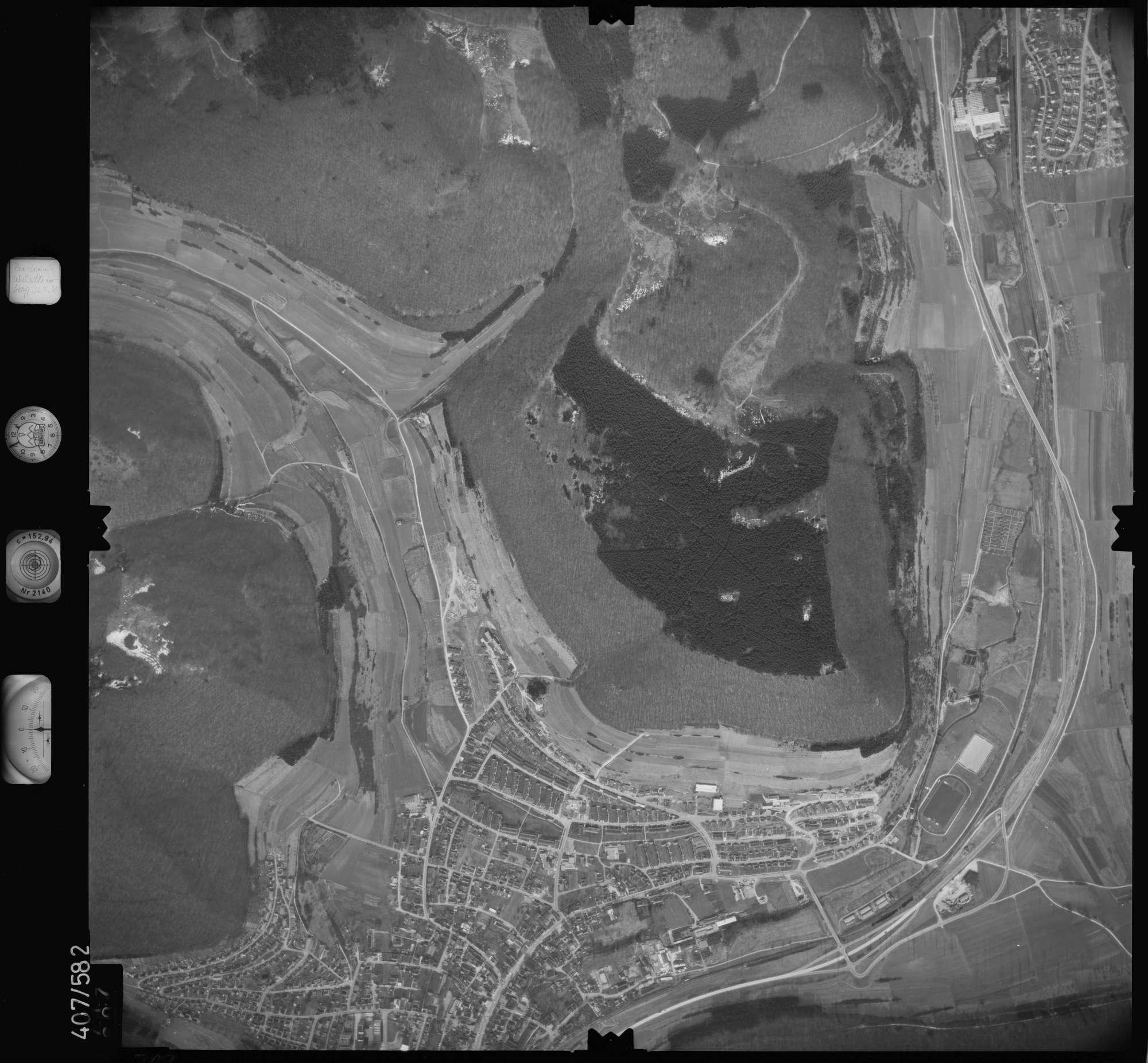 Luftbild: Film 7 Bildnr. 717, Bild 1