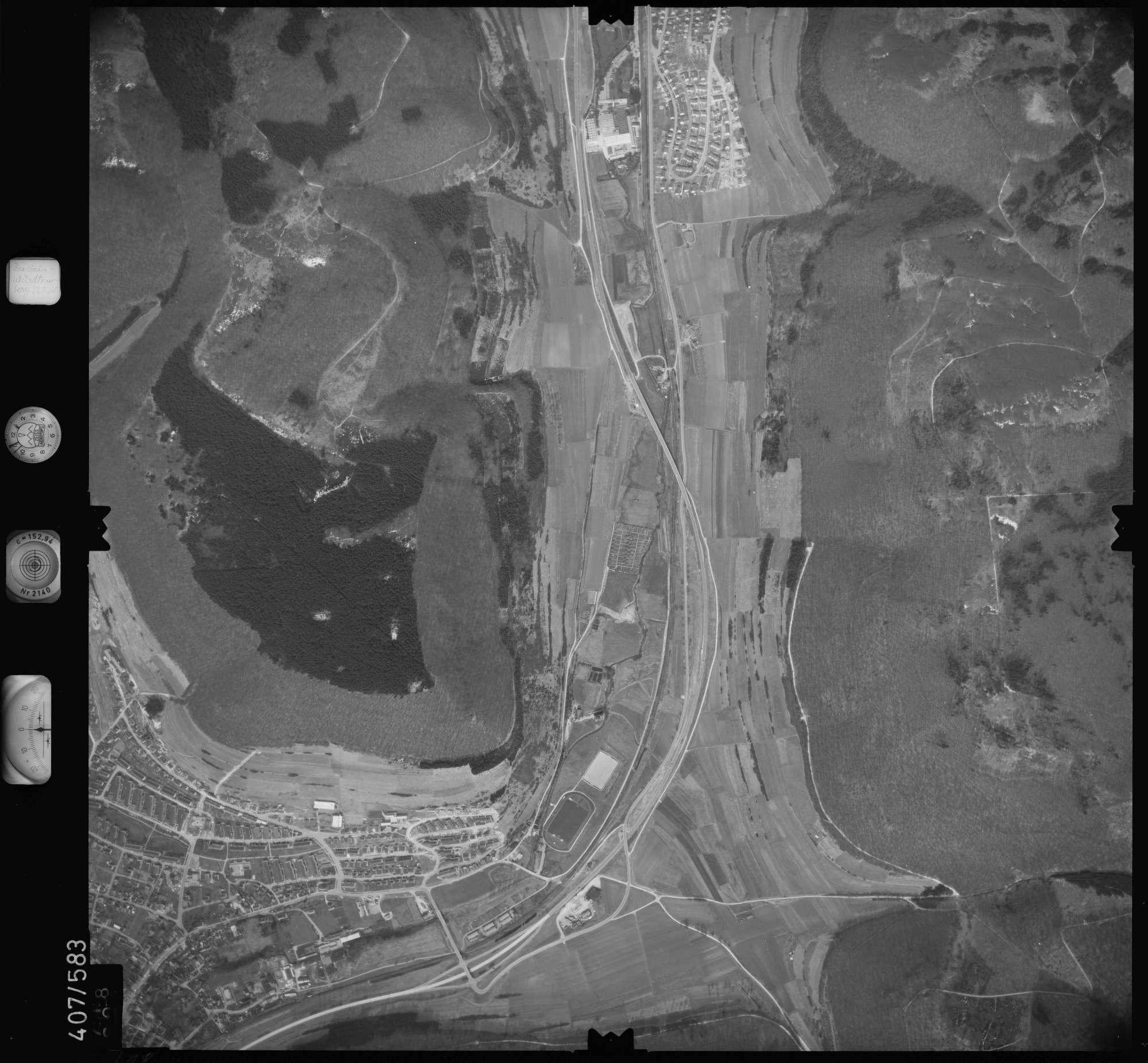Luftbild: Film 7 Bildnr. 718, Bild 1