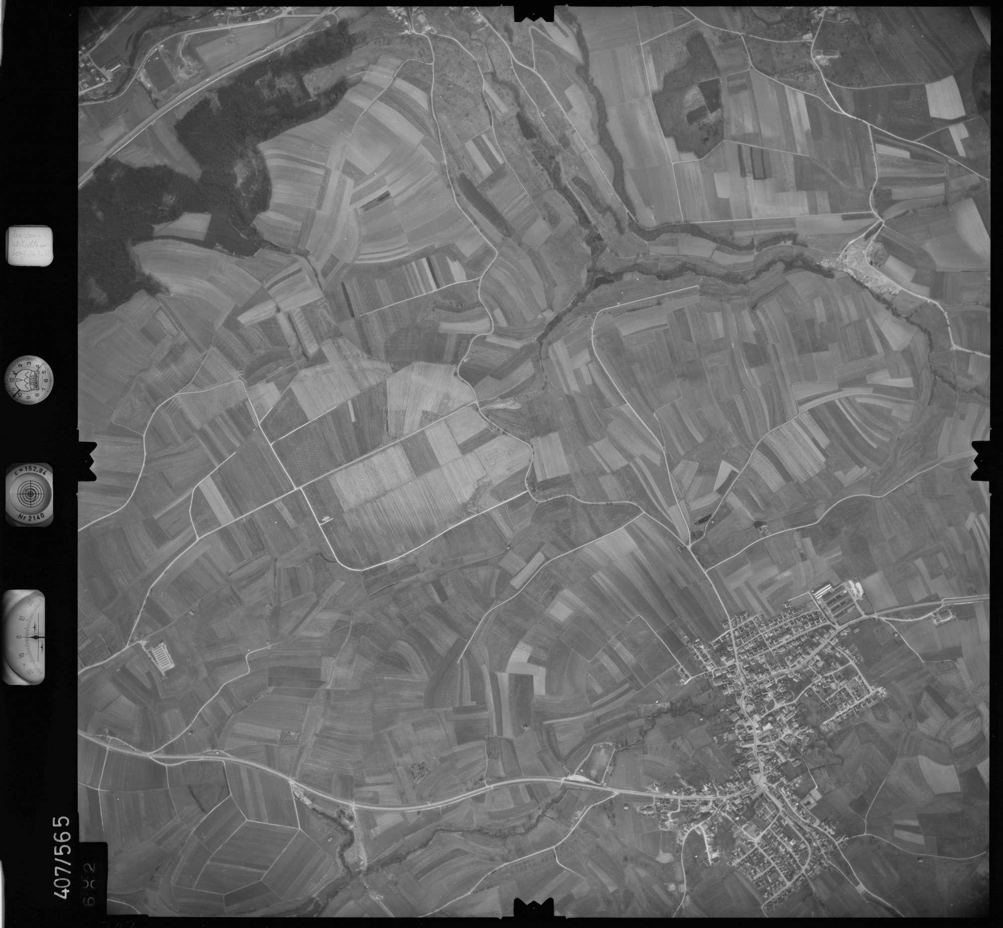 Luftbild: Film 7 Bildnr. 702, Bild 1