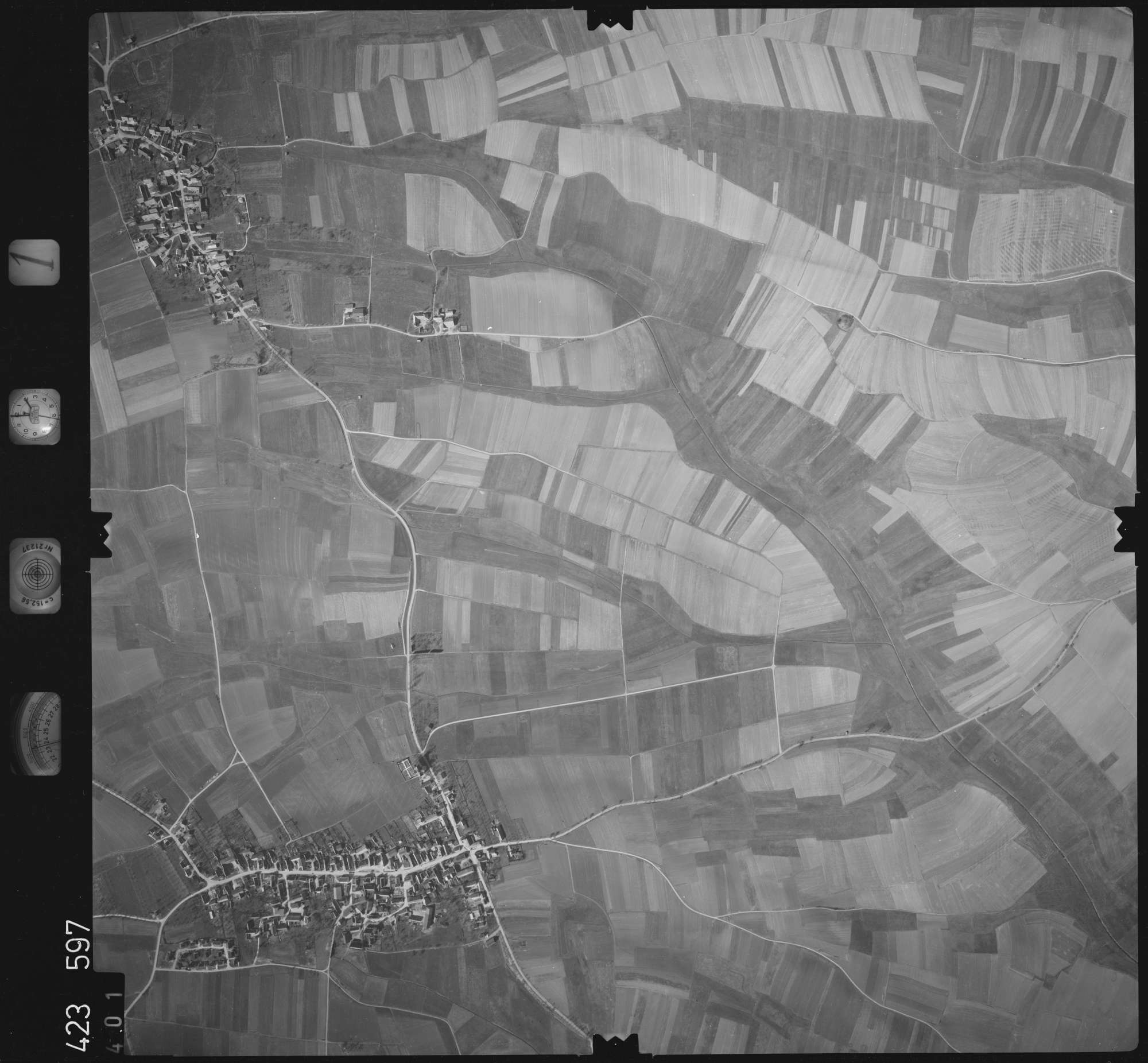 Luftbild: Film 1 Bildnr. 401, Bild 1