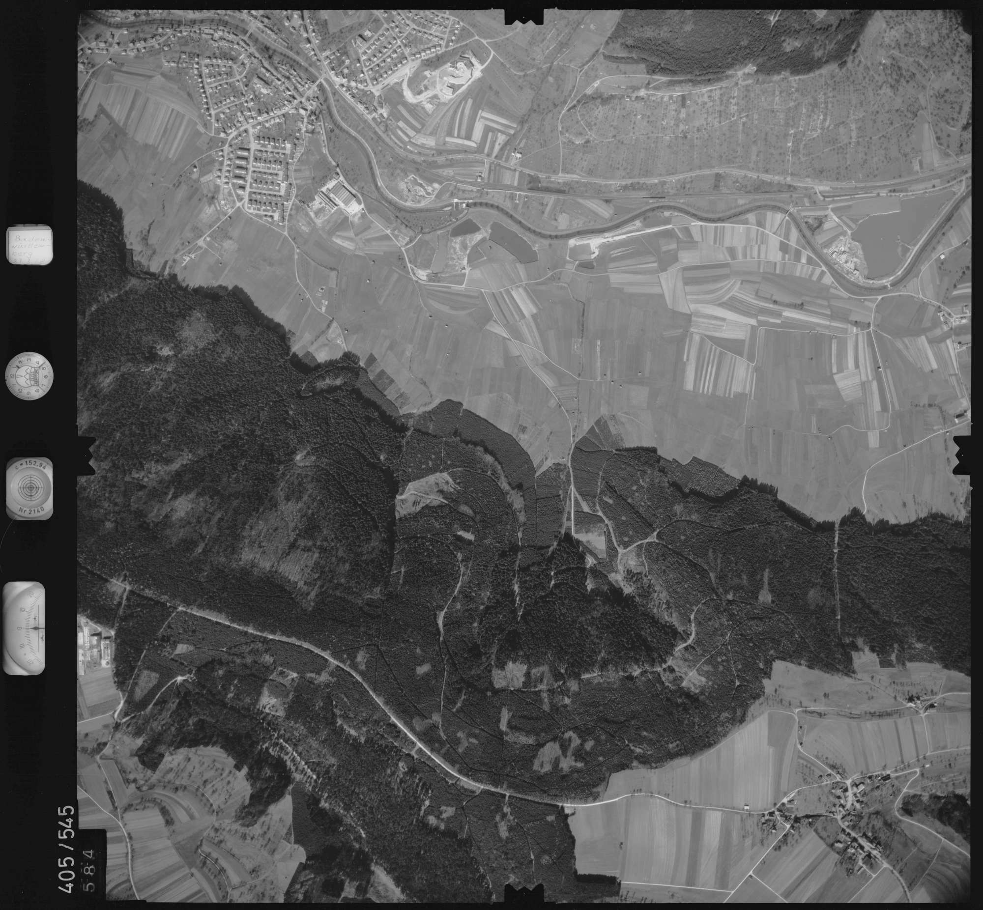 Luftbild: Film 10 Bildnr. 584, Bild 1