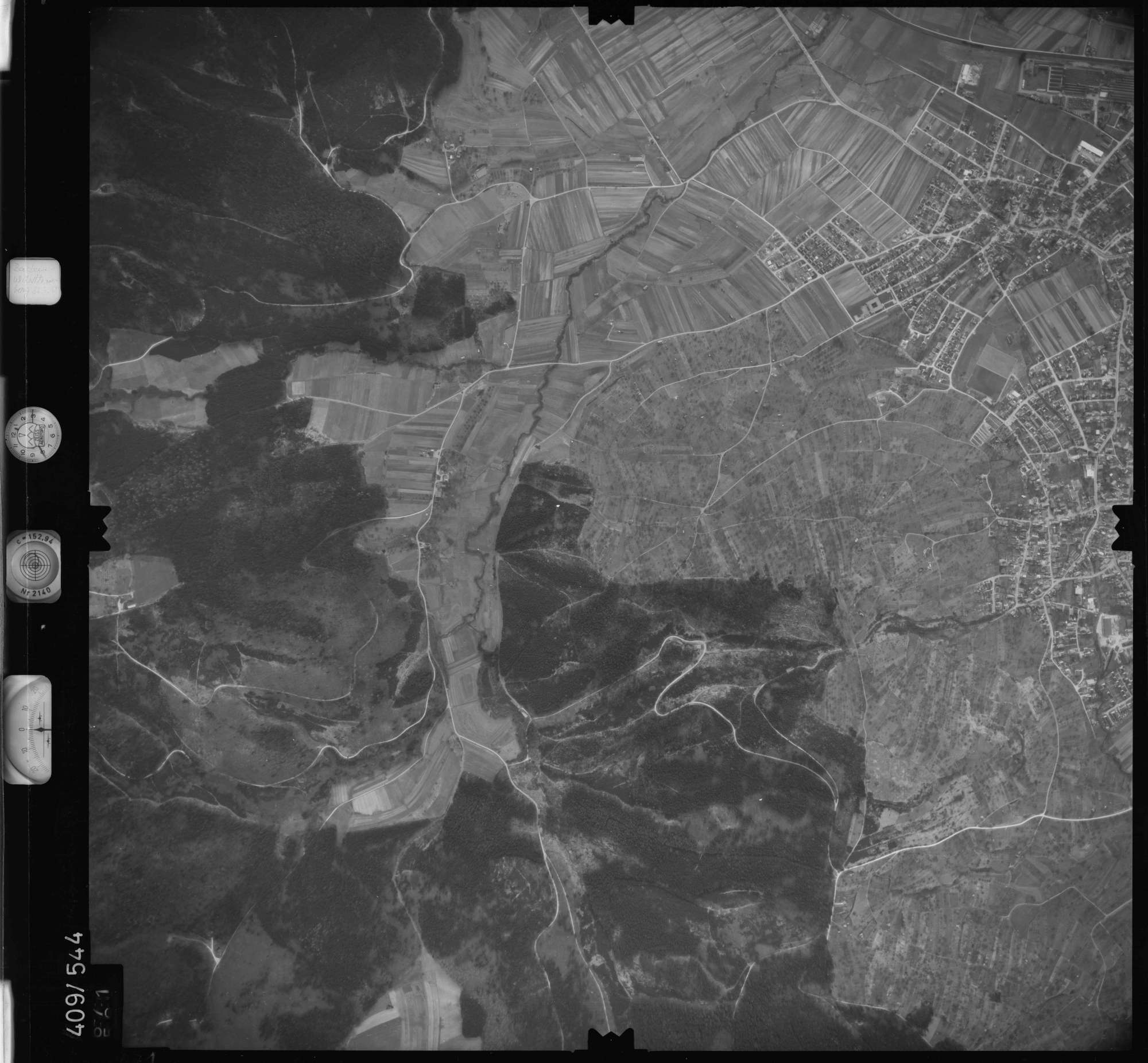 Luftbild: Film 7 Bildnr. 671, Bild 1