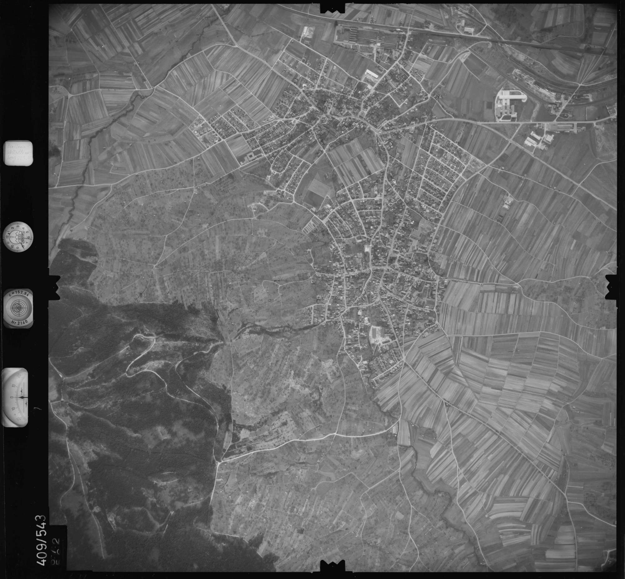 Luftbild: Film 7 Bildnr. 672, Bild 1