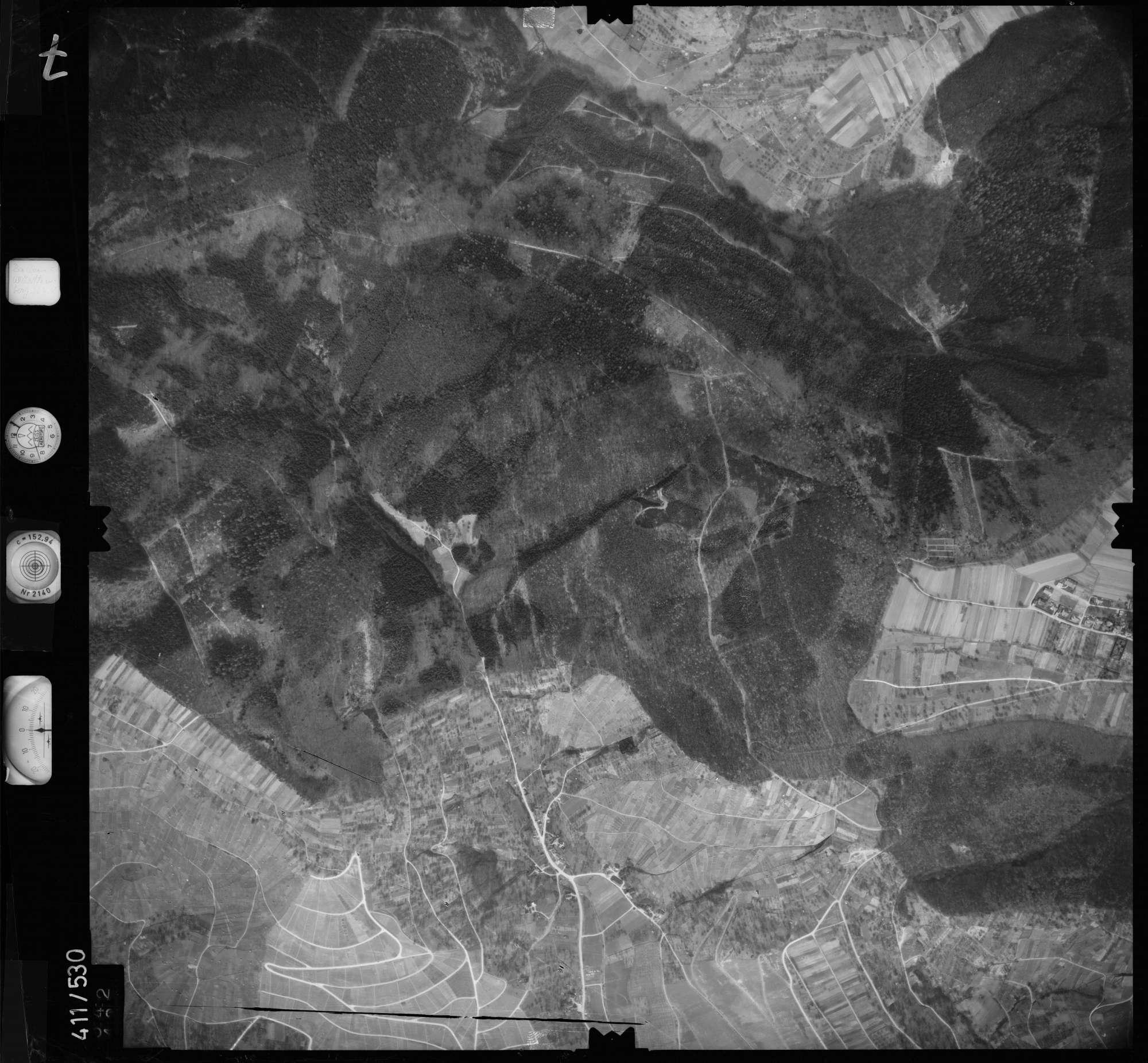 Luftbild: Film 7 Bildnr. 542, Bild 1
