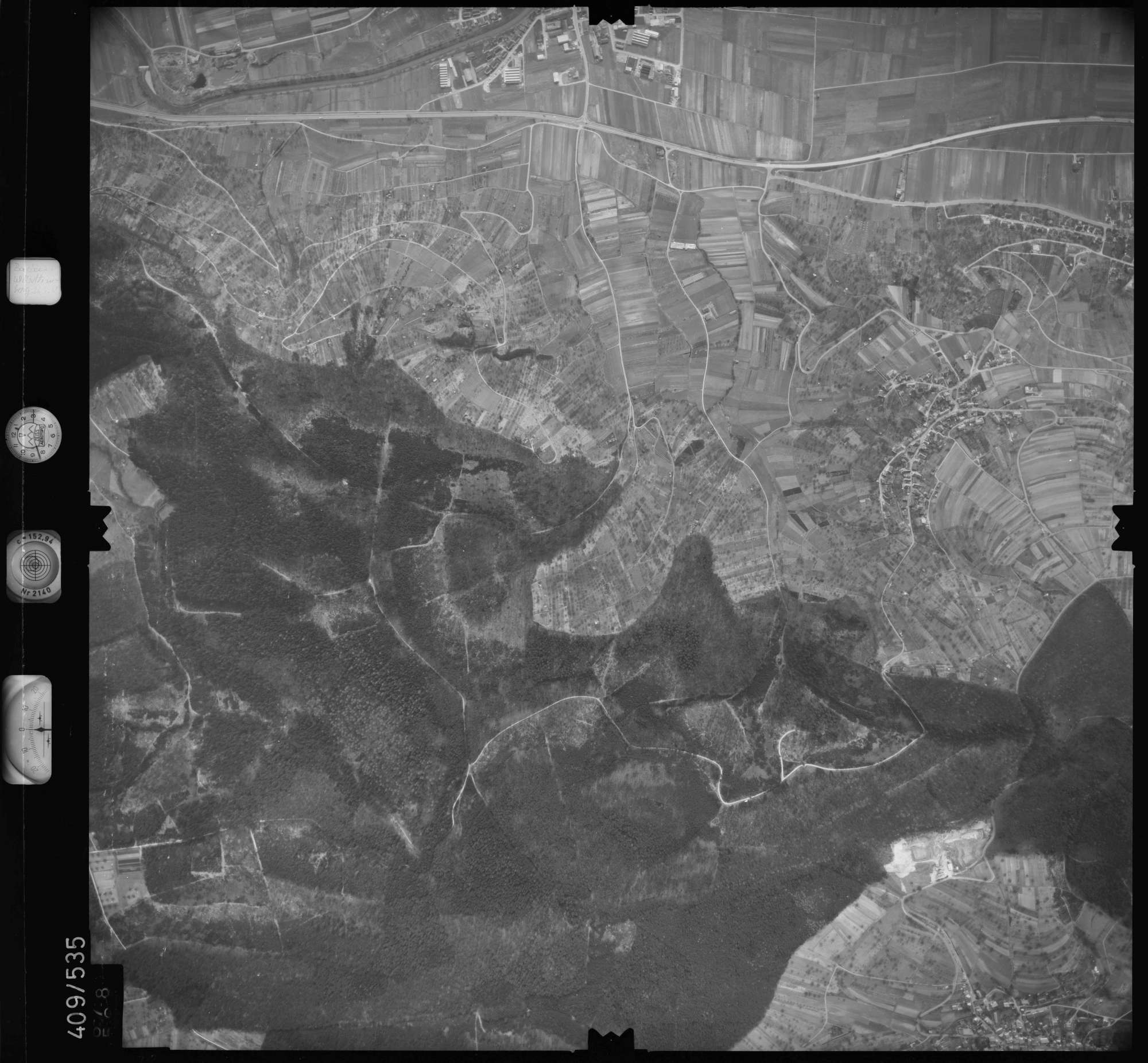 Luftbild: Film 7 Bildnr. 678, Bild 1