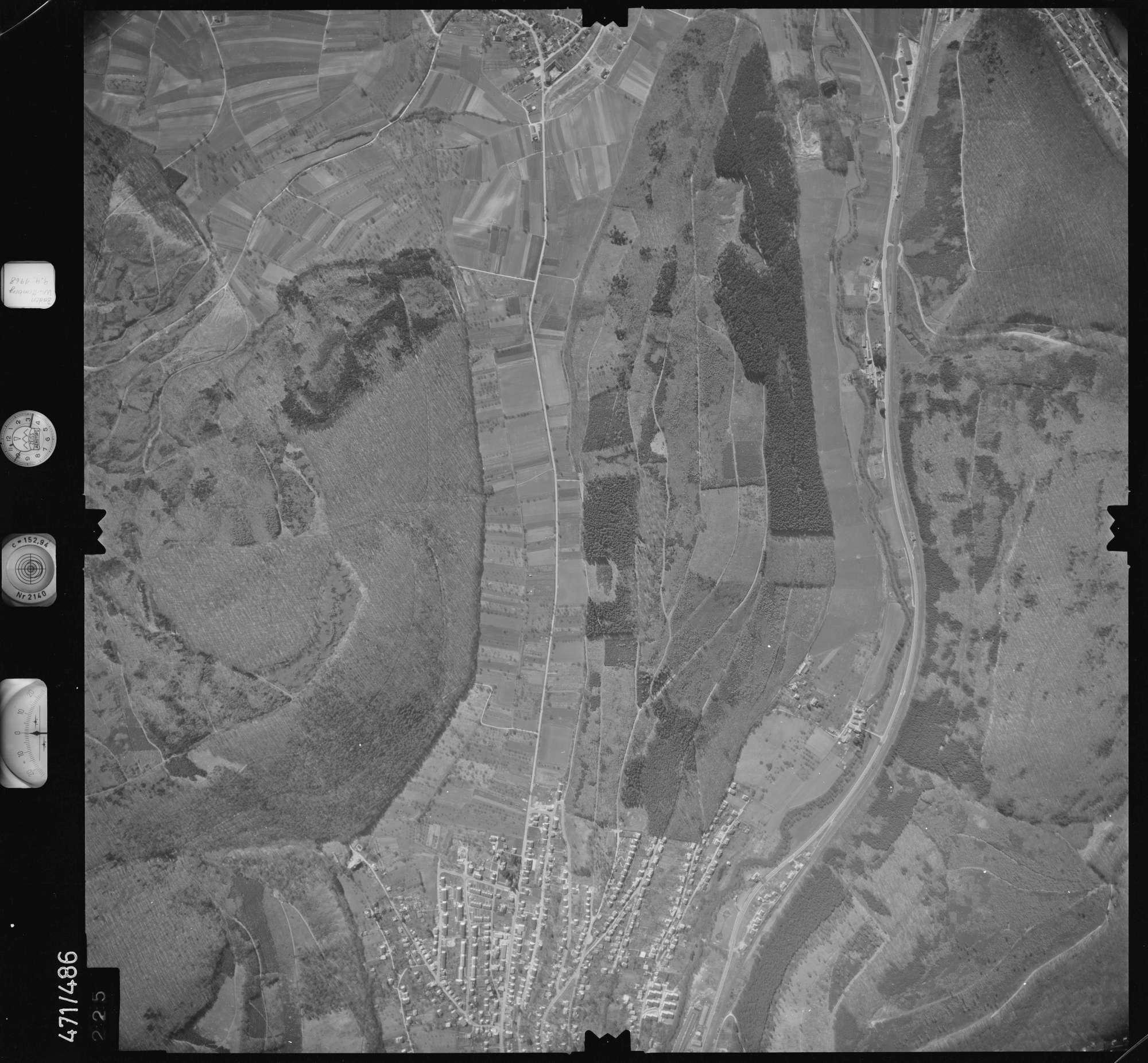 Luftbild: Film 100 Bildnr. 225, Bild 1