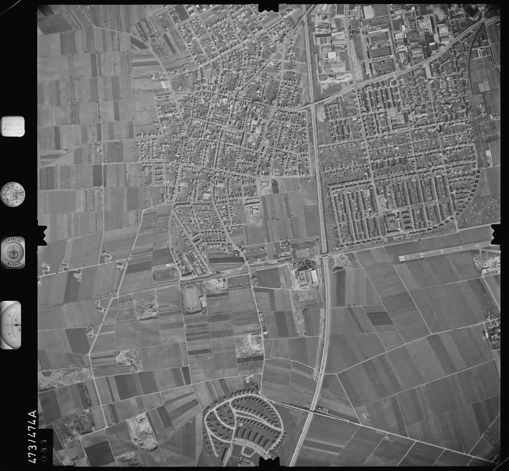 Luftbild: Film 100 Bildnr. 31, Bild 1