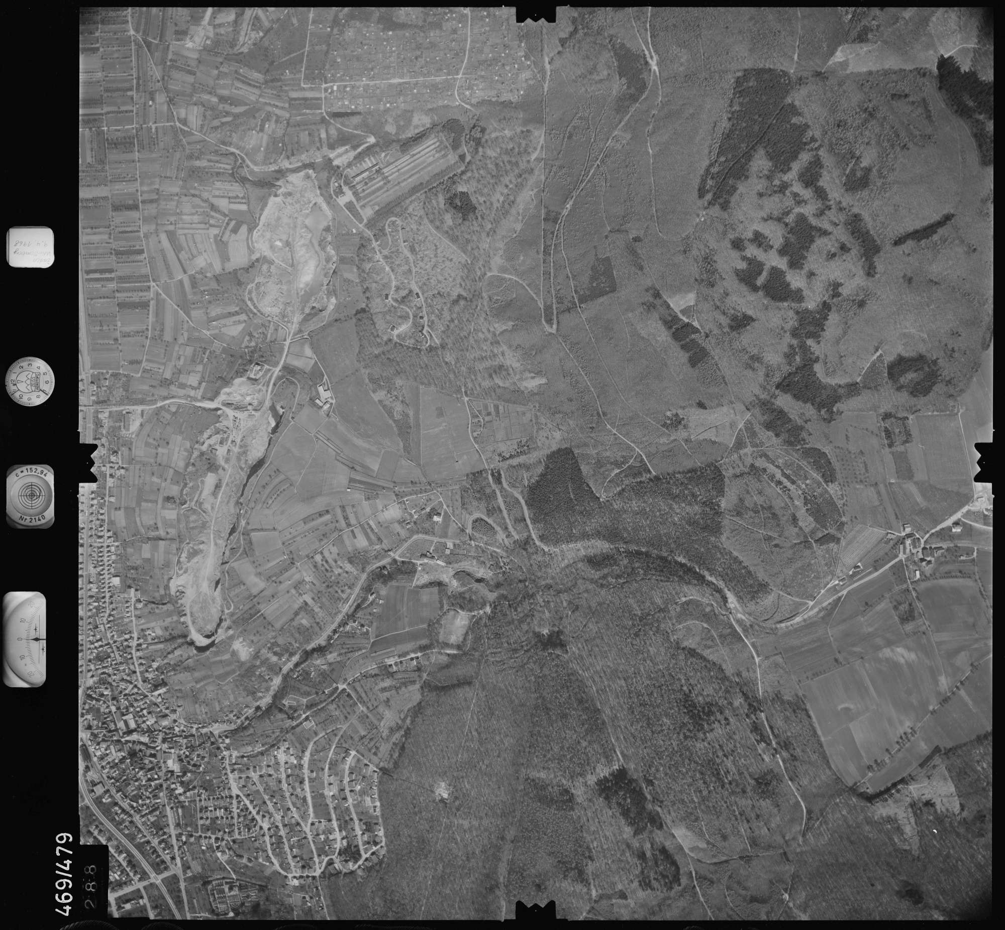 Luftbild: Film 101 Bildnr. 288, Bild 1