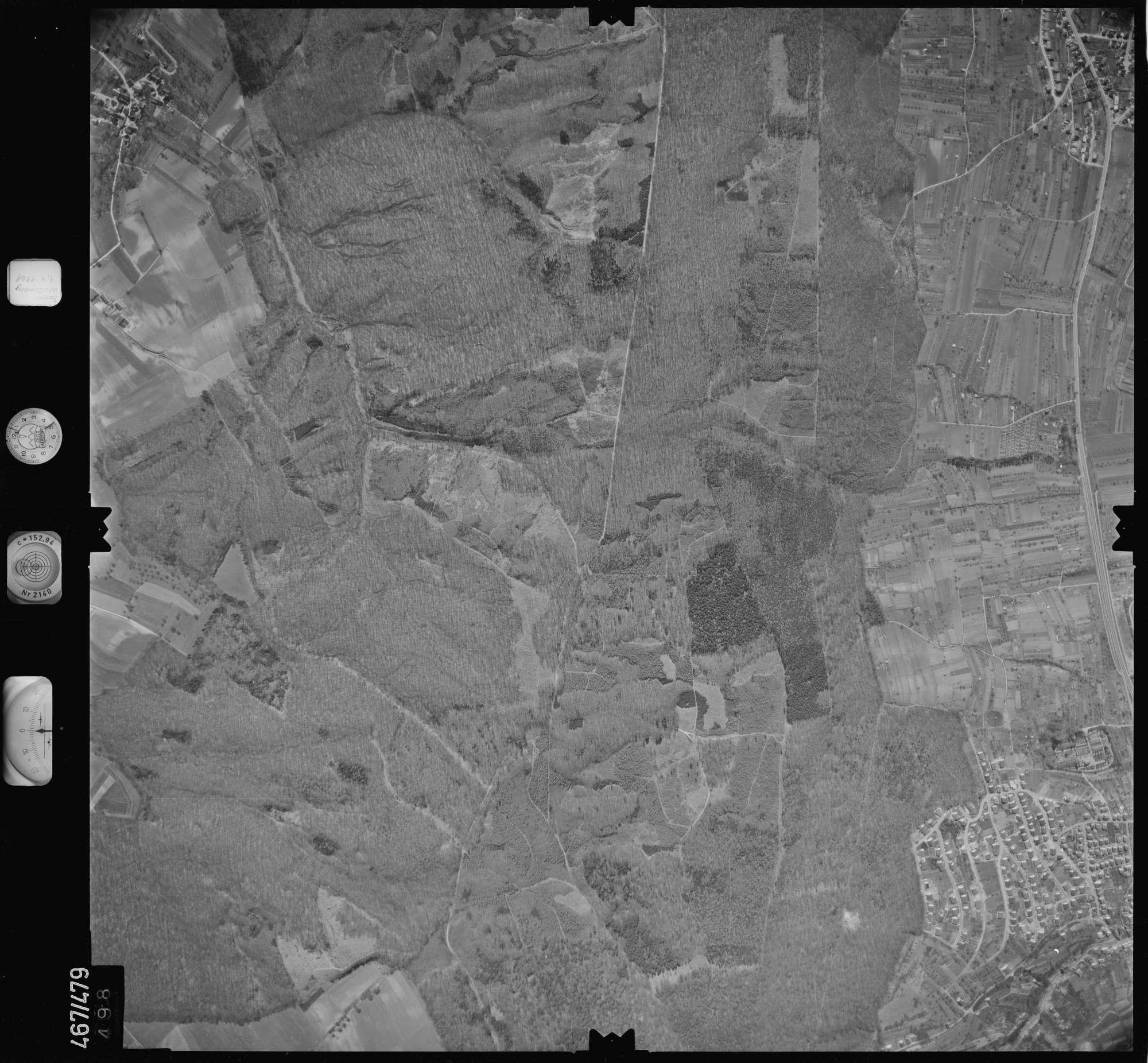 Luftbild: Film 101 Bildnr. 498, Bild 1