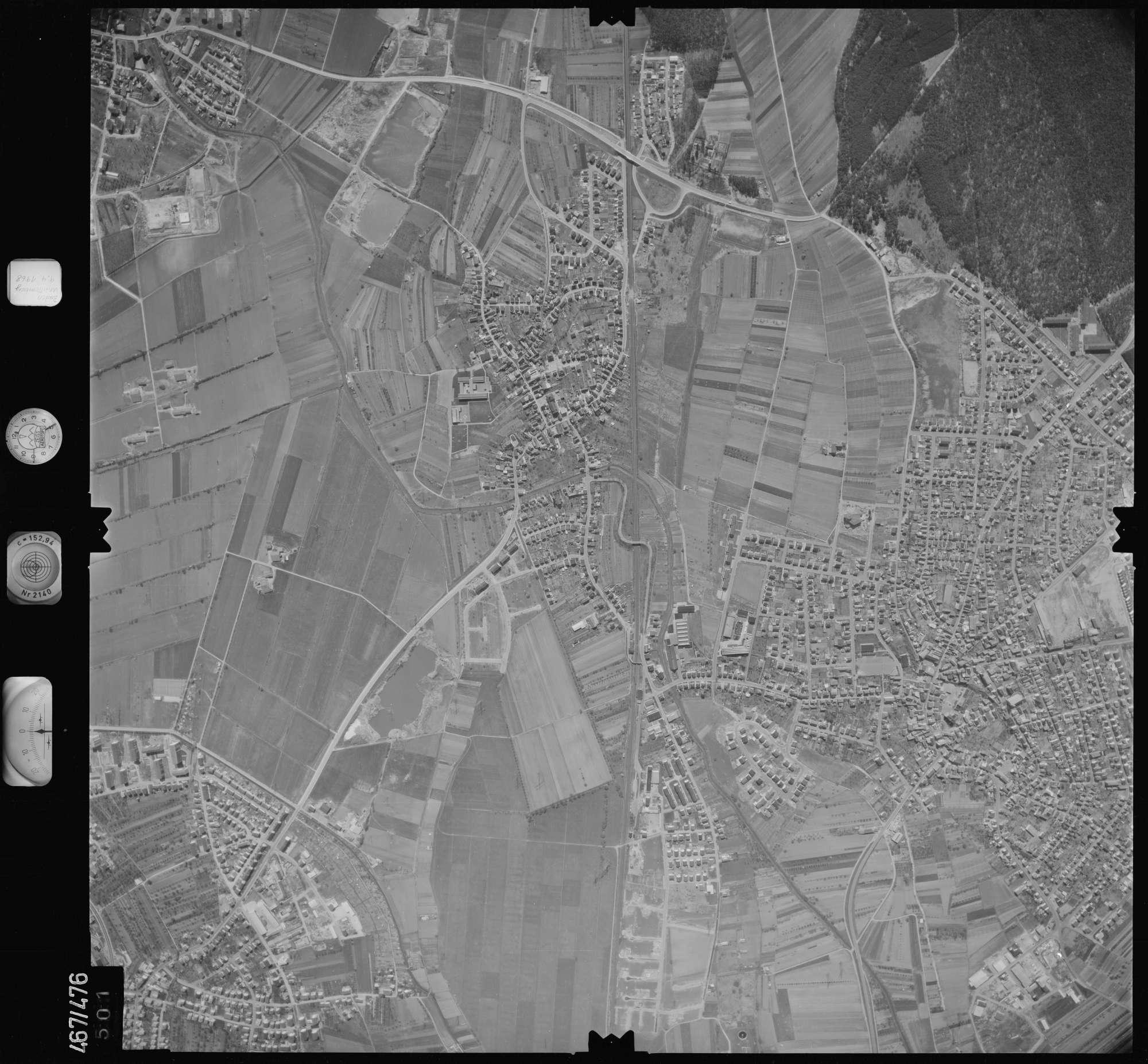 Luftbild: Film 101 Bildnr. 501, Bild 1