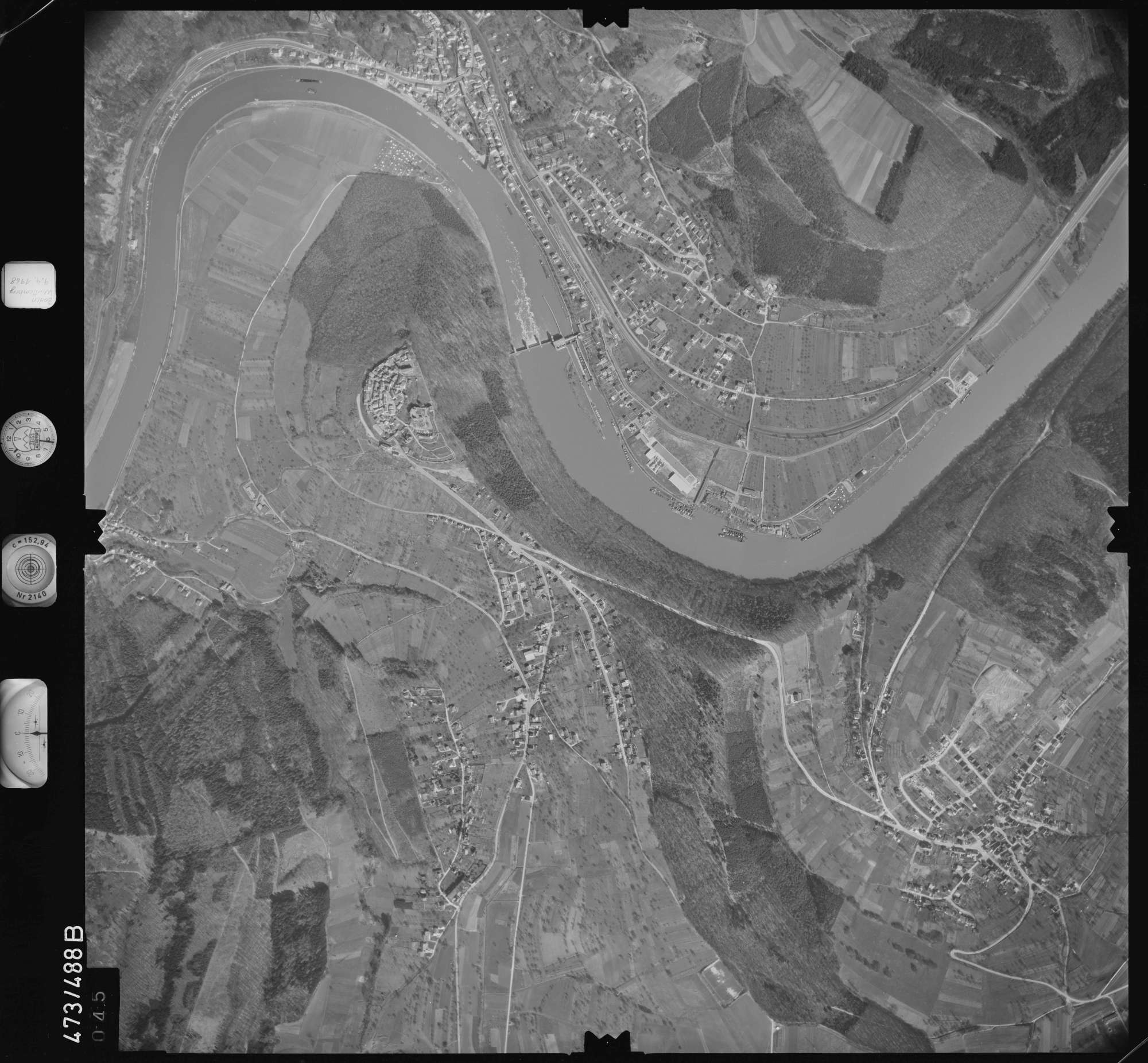 Luftbild: Film 100 Bildnr. 45, Bild 1