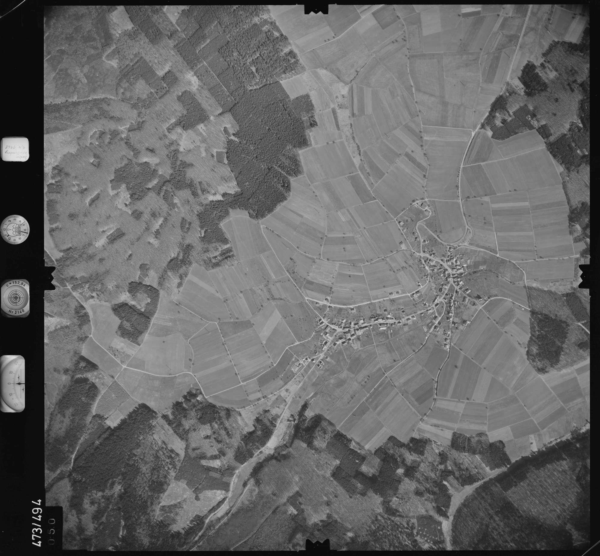 Luftbild: Film 100 Bildnr. 50, Bild 1